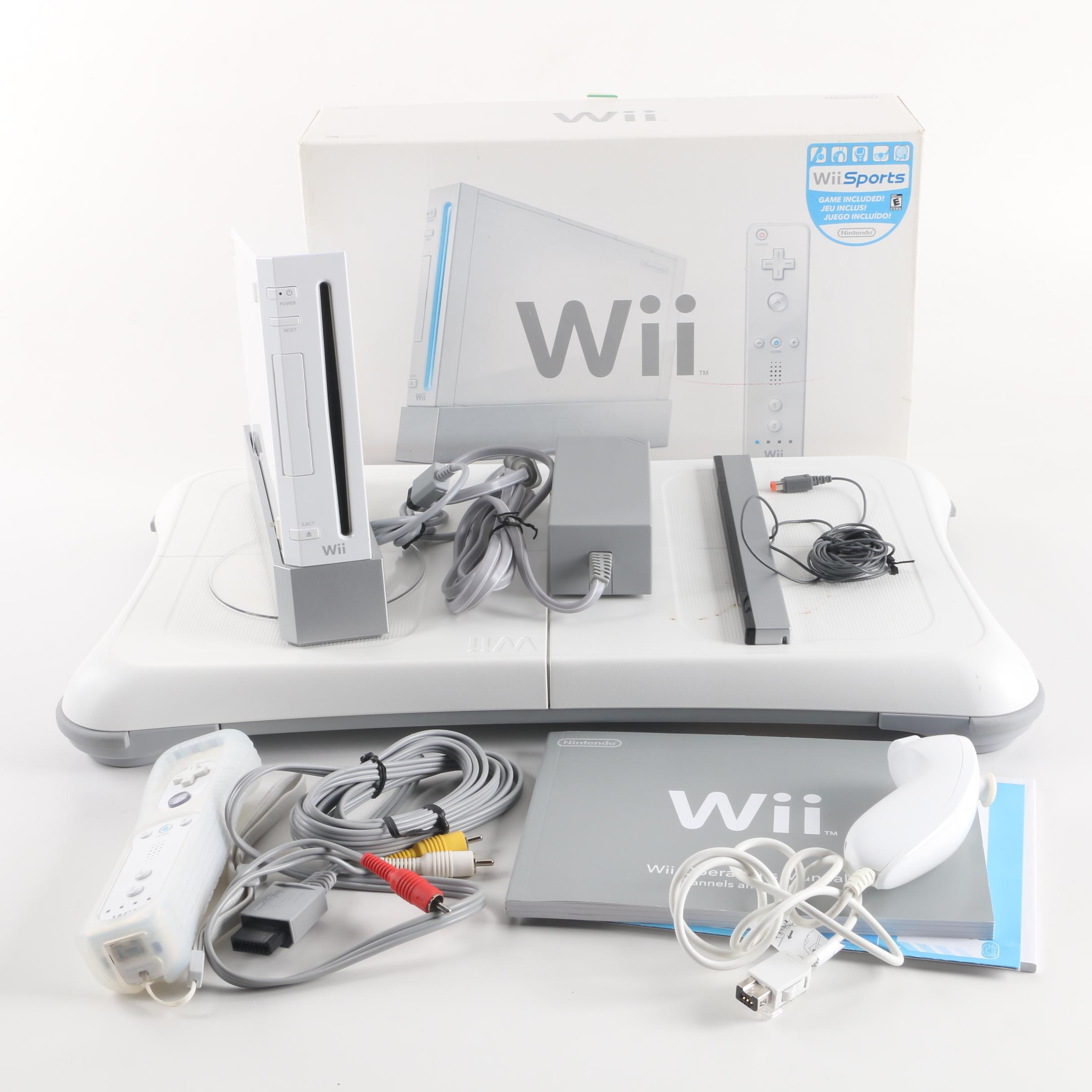 Nintendo Wii Video Game Consoles with Wii Fit Balance Board