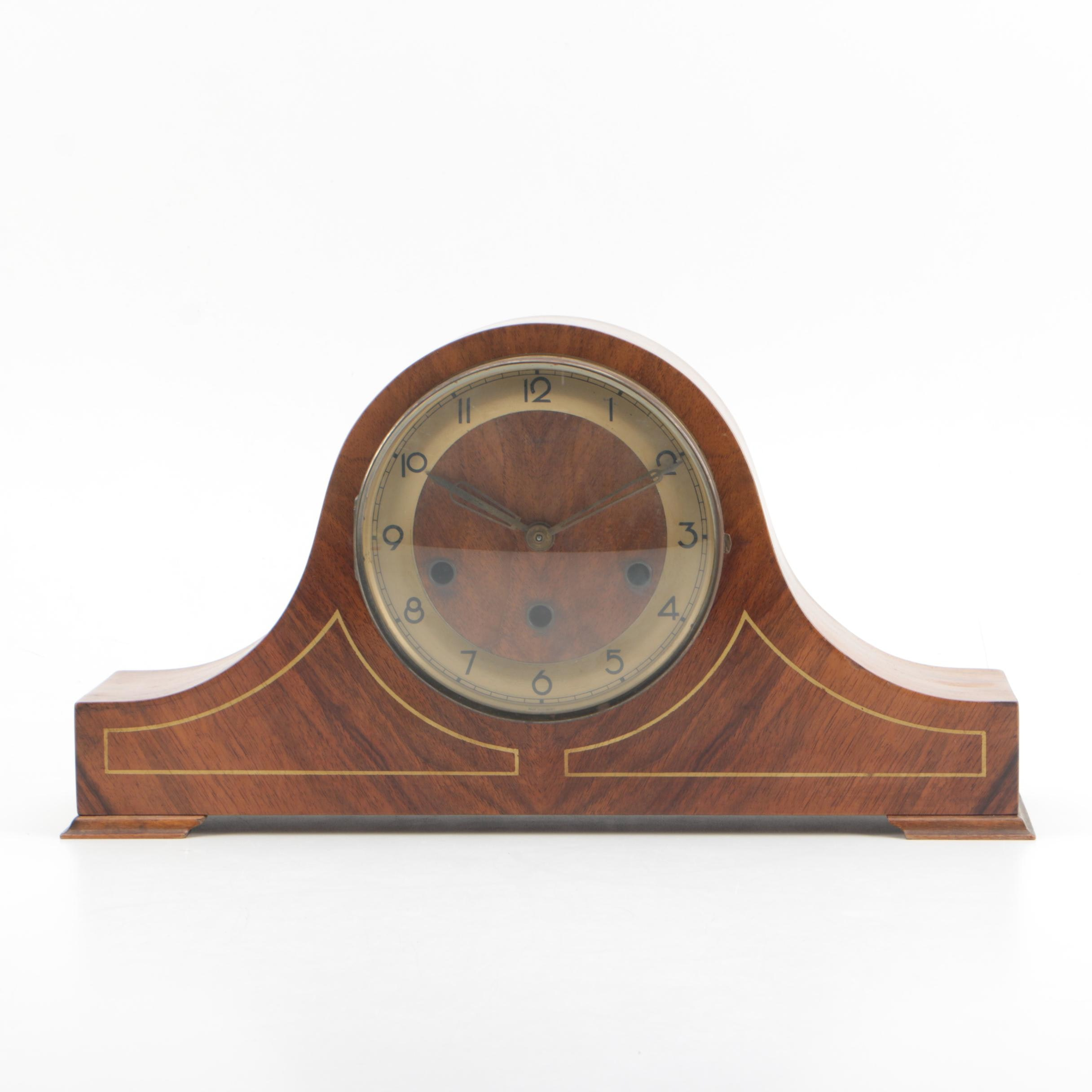Vintage Linden Tambour Mantel Clock by Cuckoo Clock Mfg. Co.