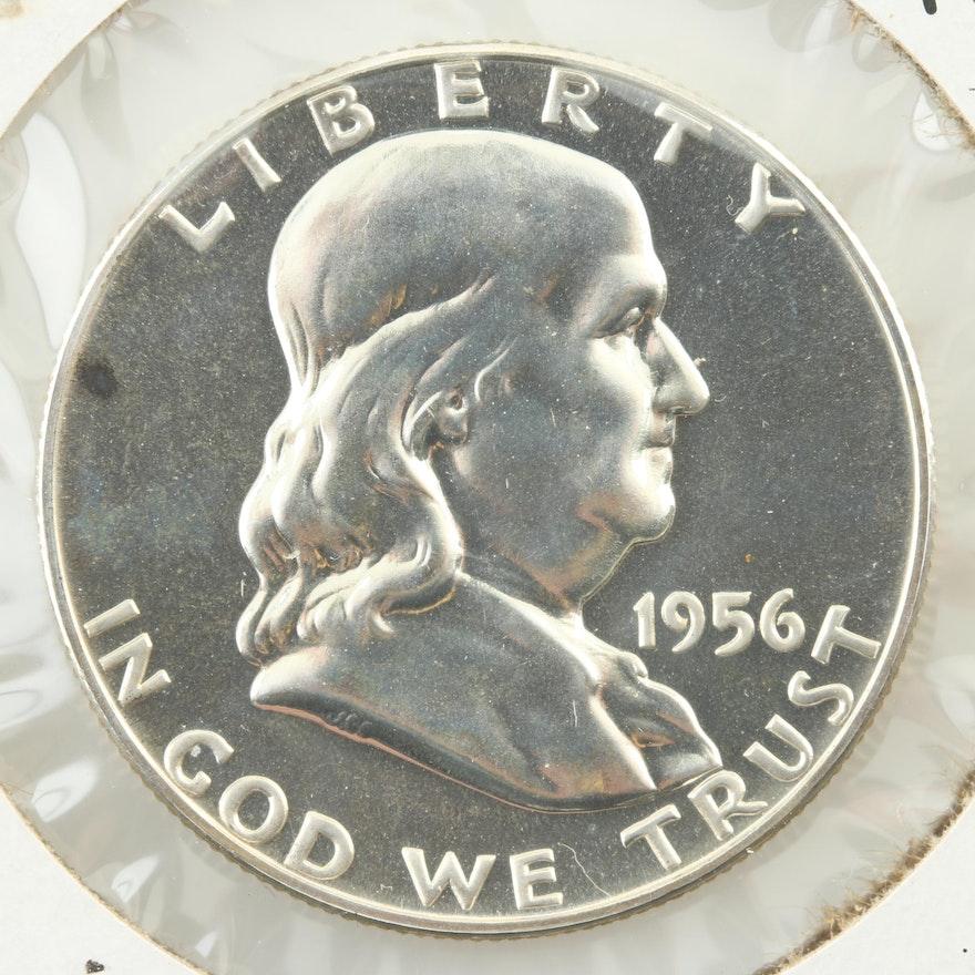 1956 Franklin Silver Half Dollar Proof Coin