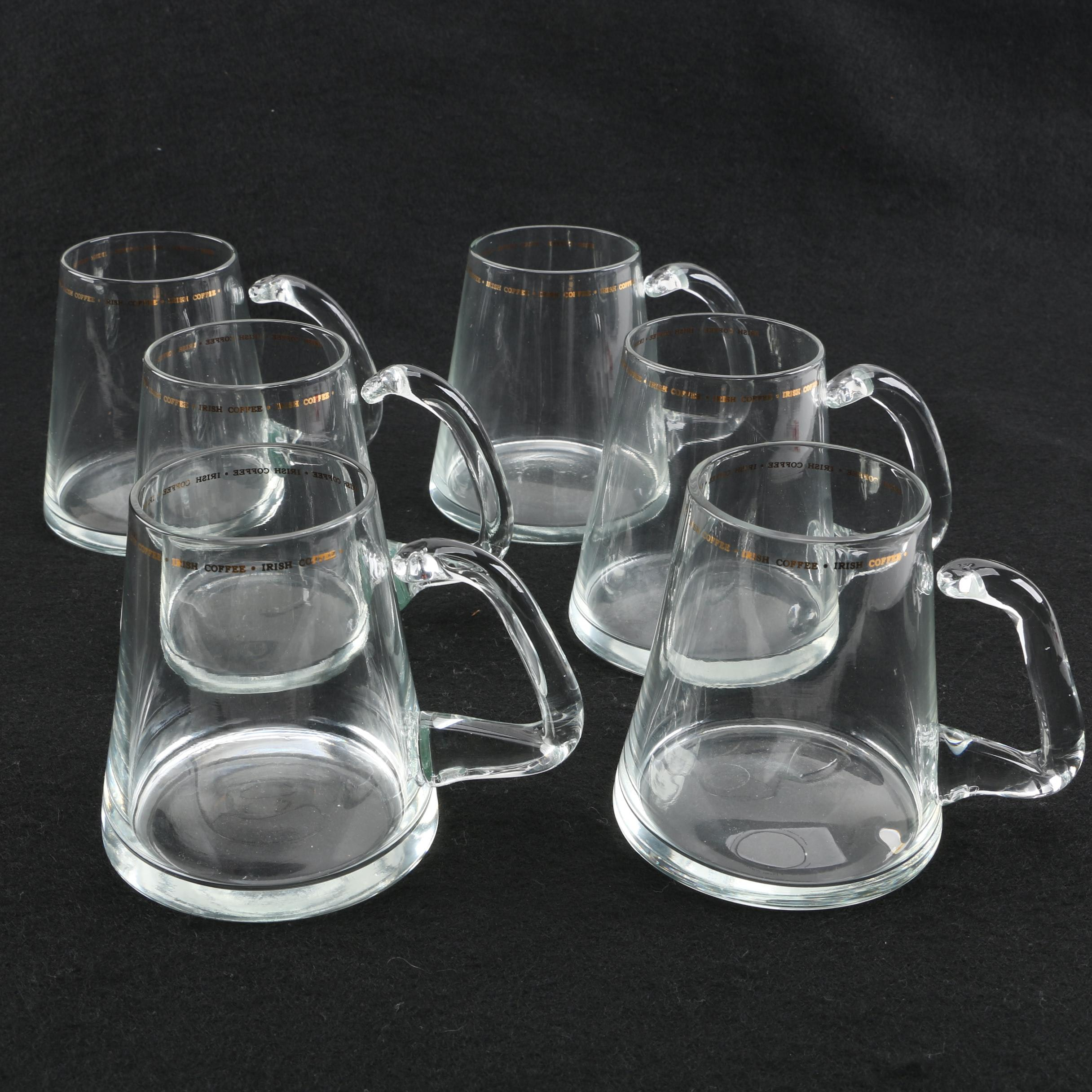 Vintage Glass Irish Coffee Mugs