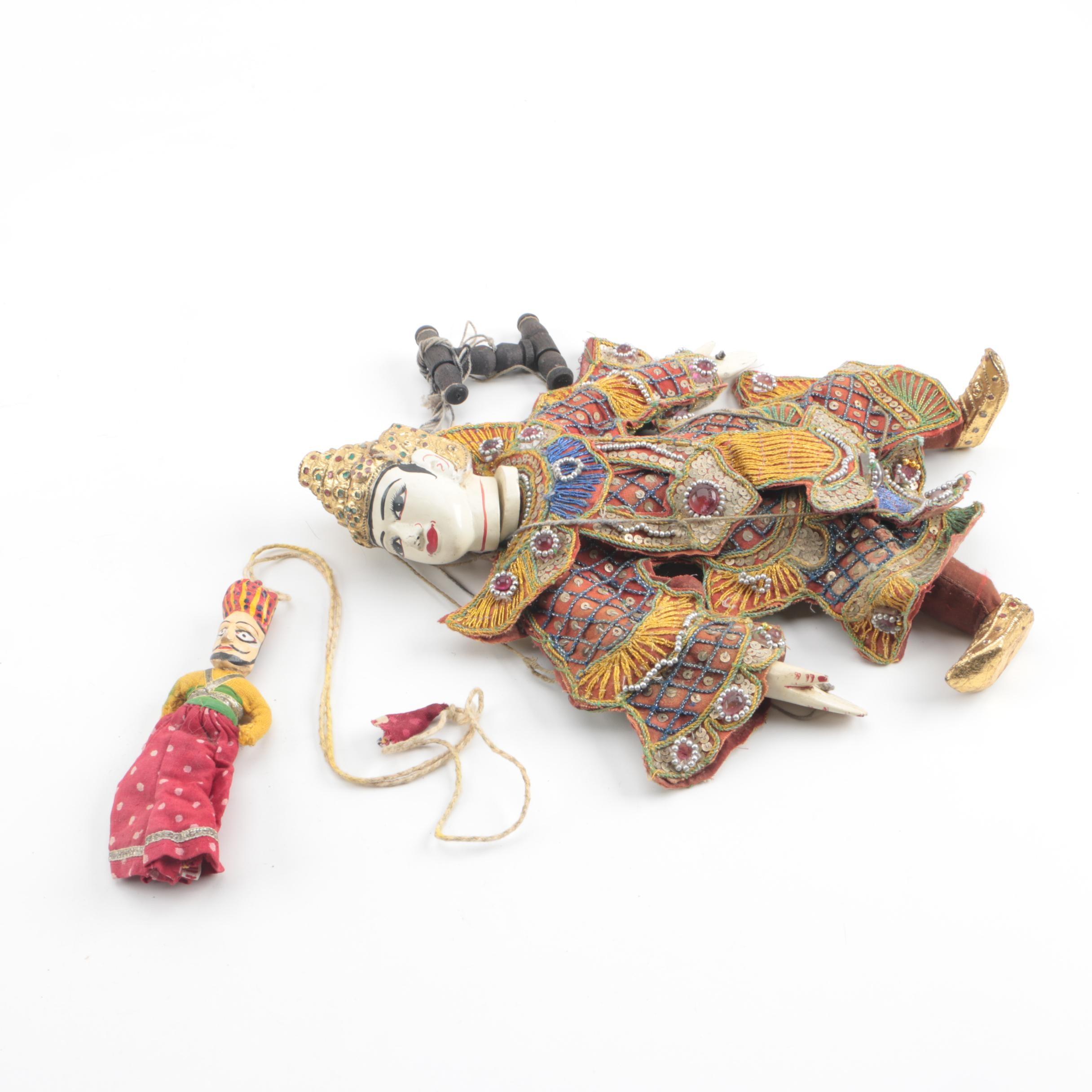 Burmese Style Yoke Thé Puppets