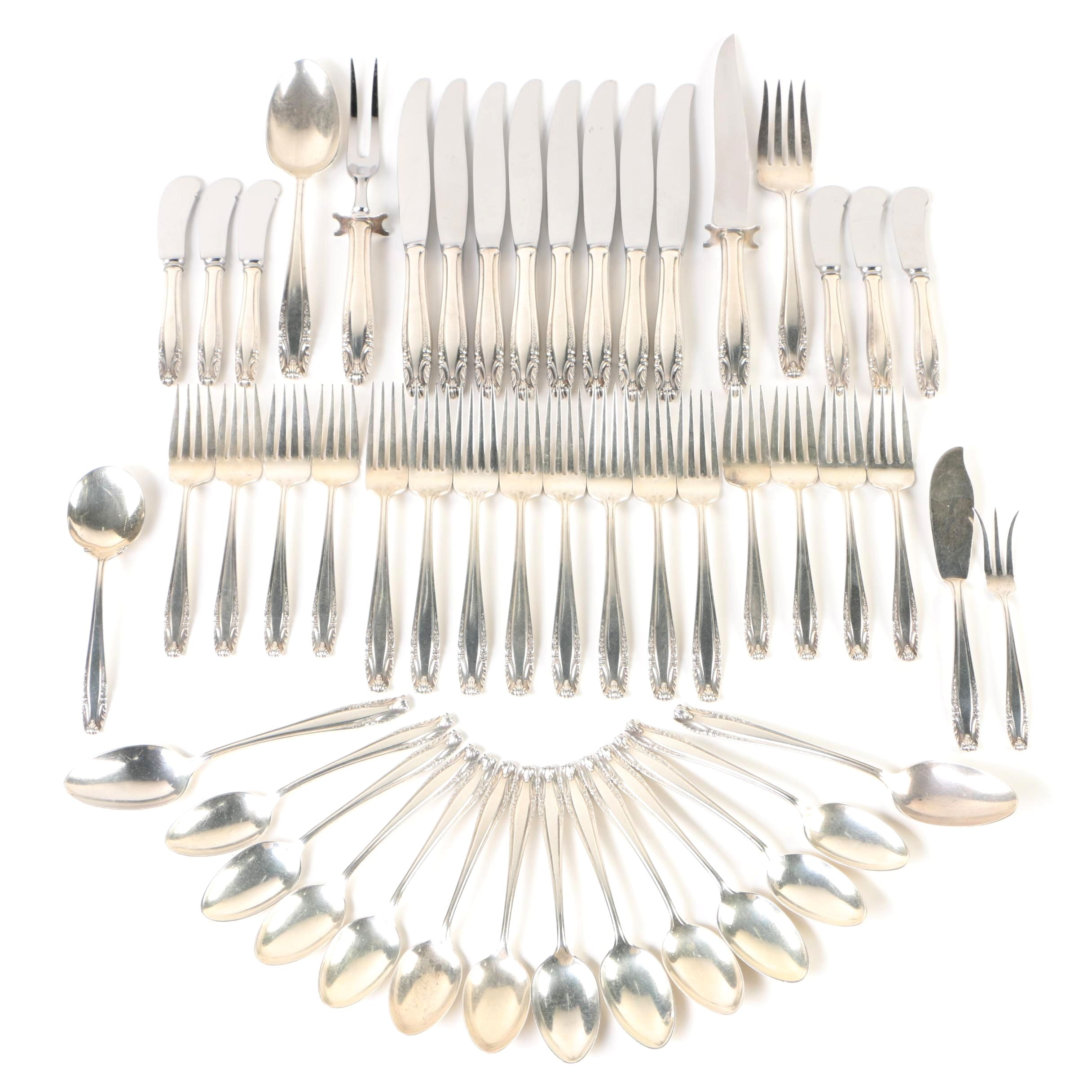 """R. Wallace & Sons """"Stradivari"""" Sterling Silver Flatware Collection"""