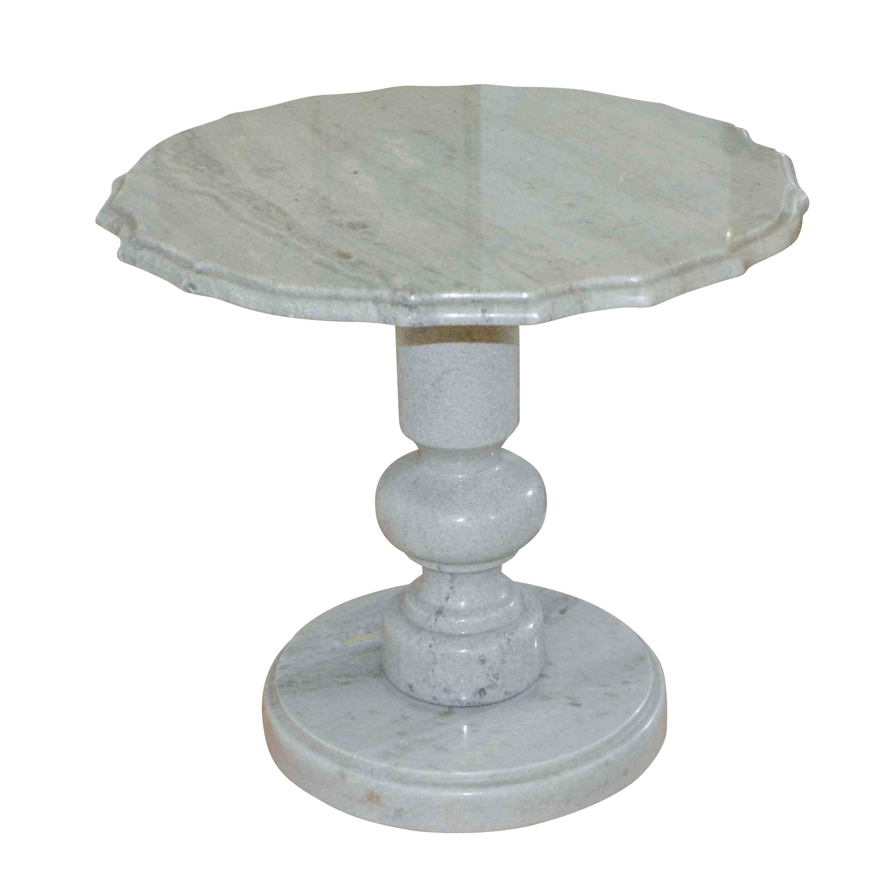 Seafoam Green Stone Side Table ...