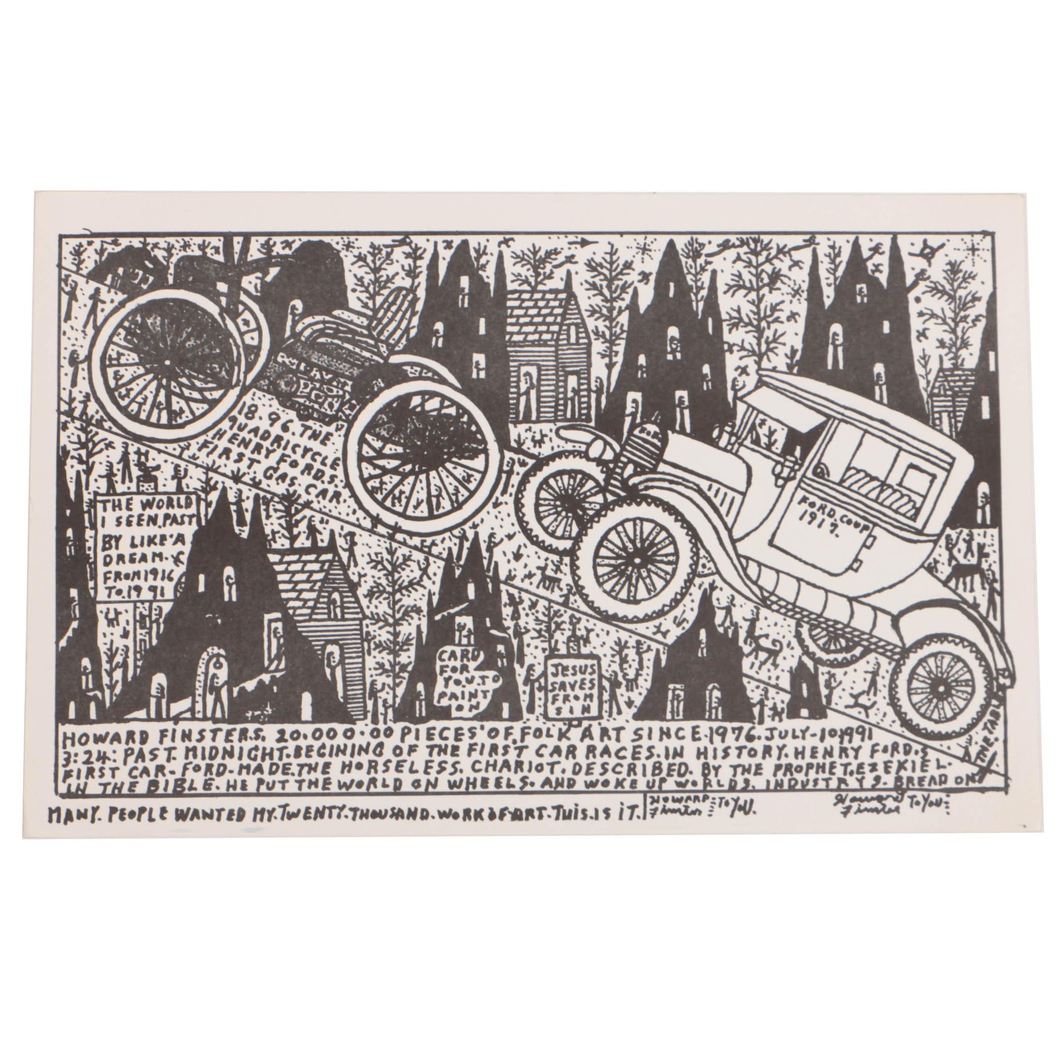 Howard Finster Poster Print of 20,000th Work of Art