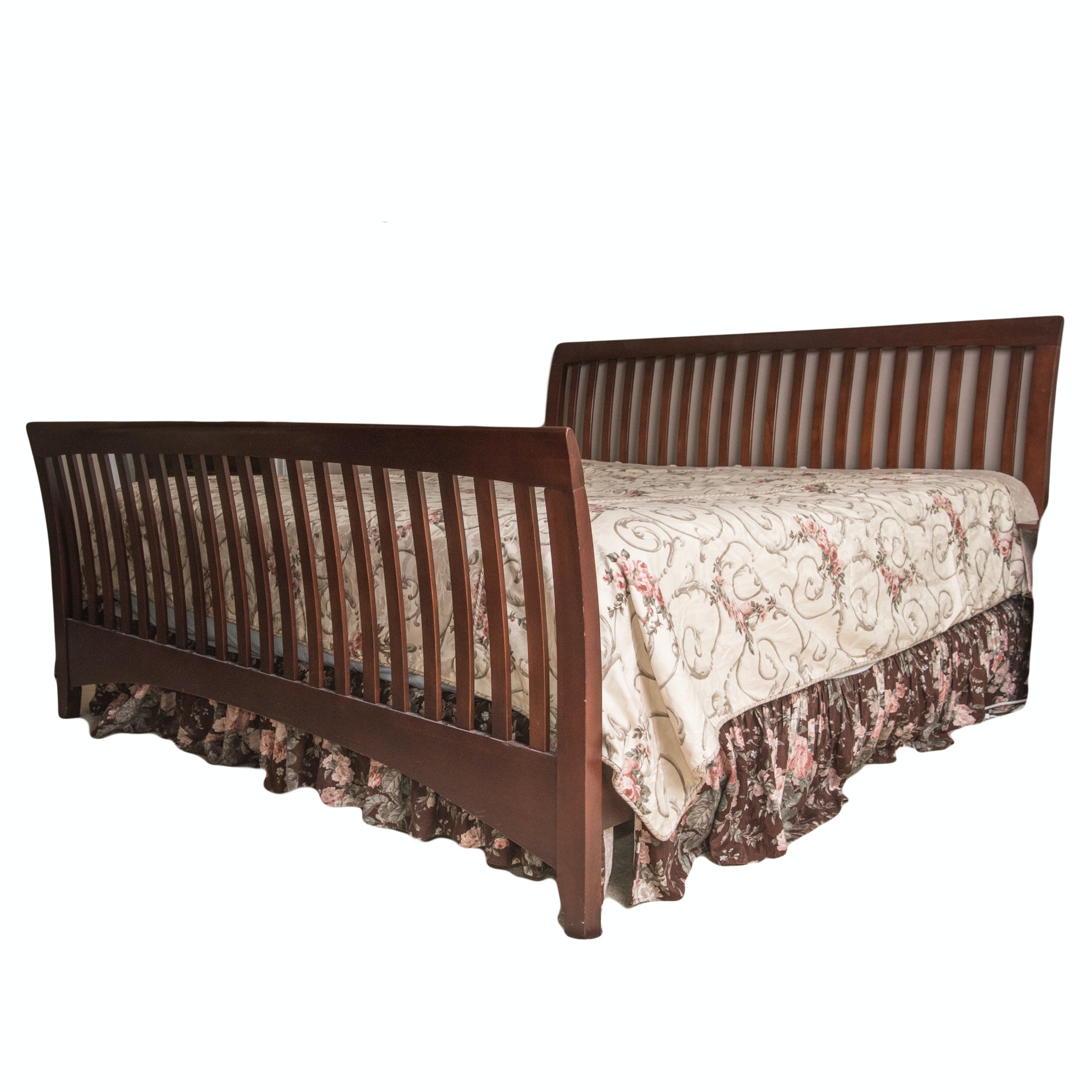 King Size Mission Style Cherry Bed