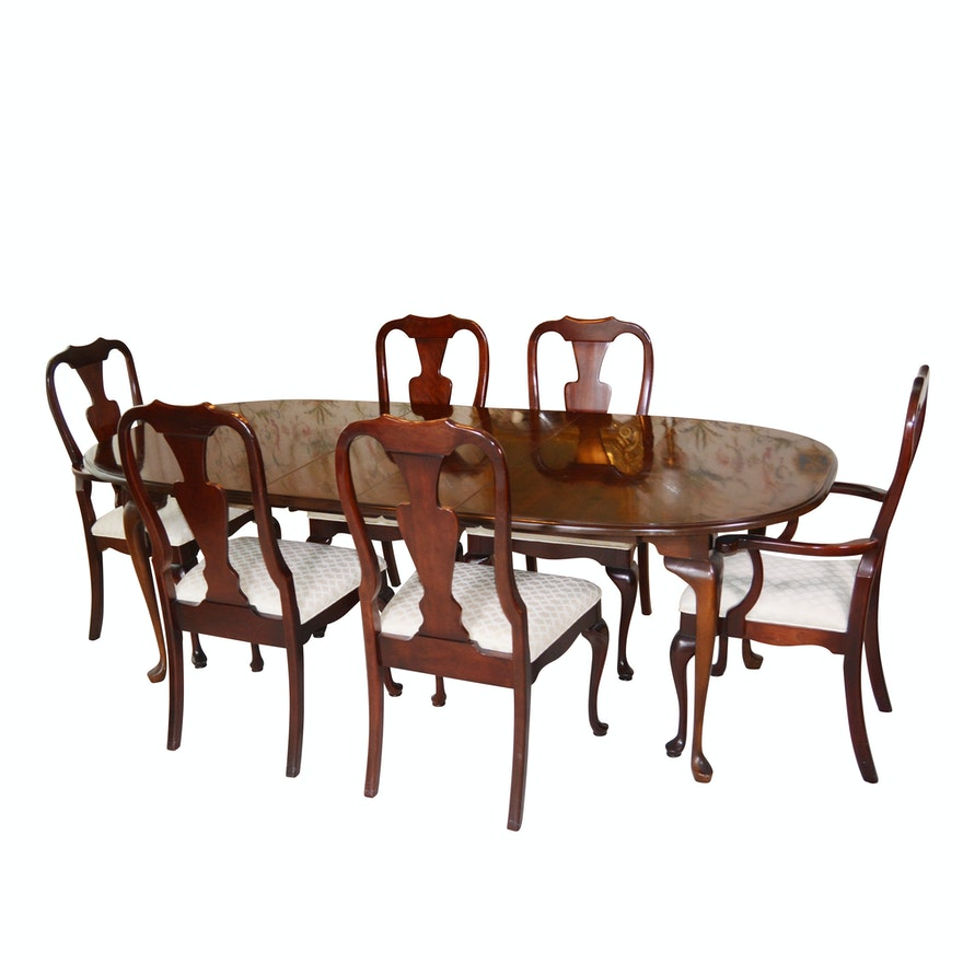 Terrific Queen Anne Style Dining Table And Chairs By Pennsylvania Classics Inc Download Free Architecture Designs Scobabritishbridgeorg