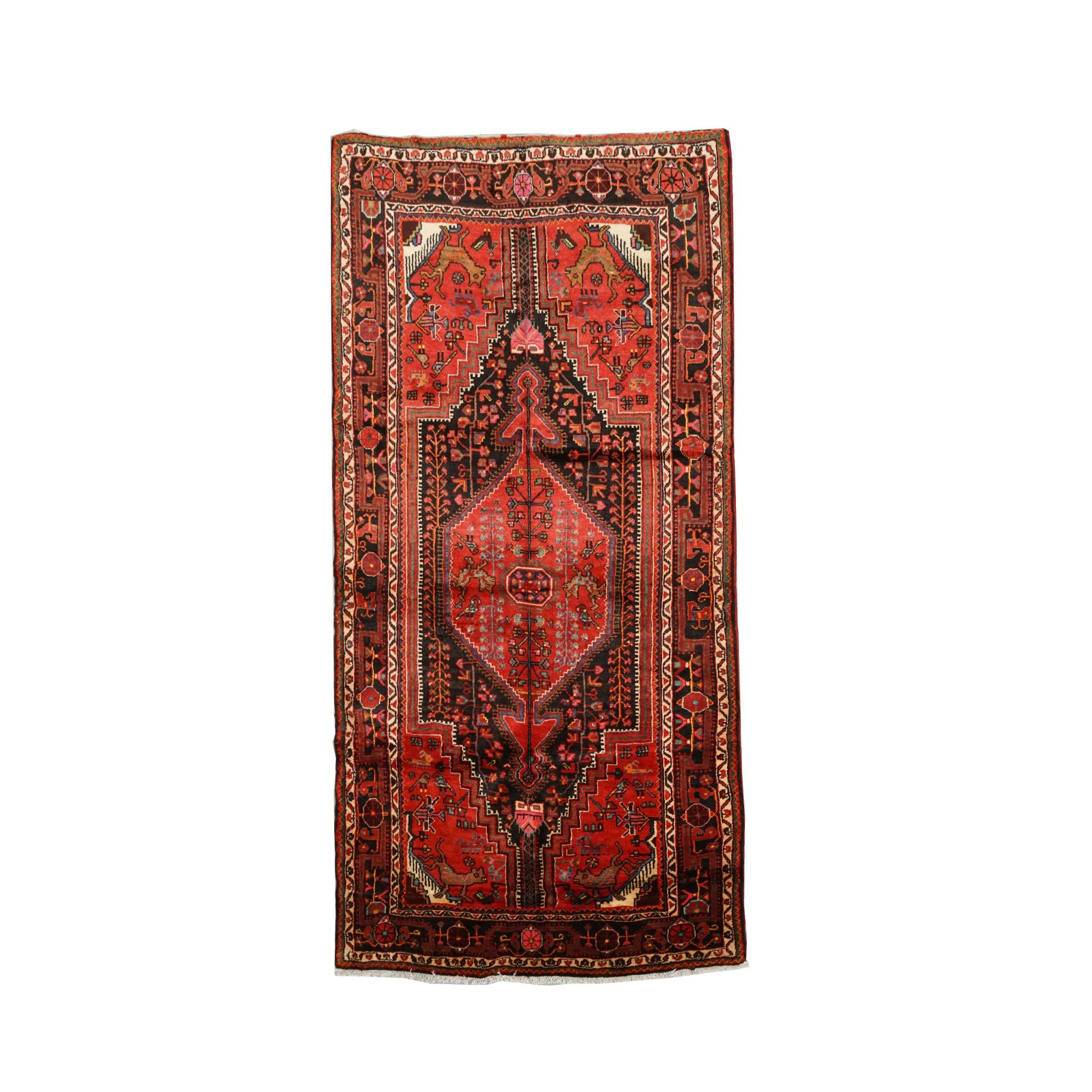Hand-Knotted Persian Tuisarakan Wool Long Rug