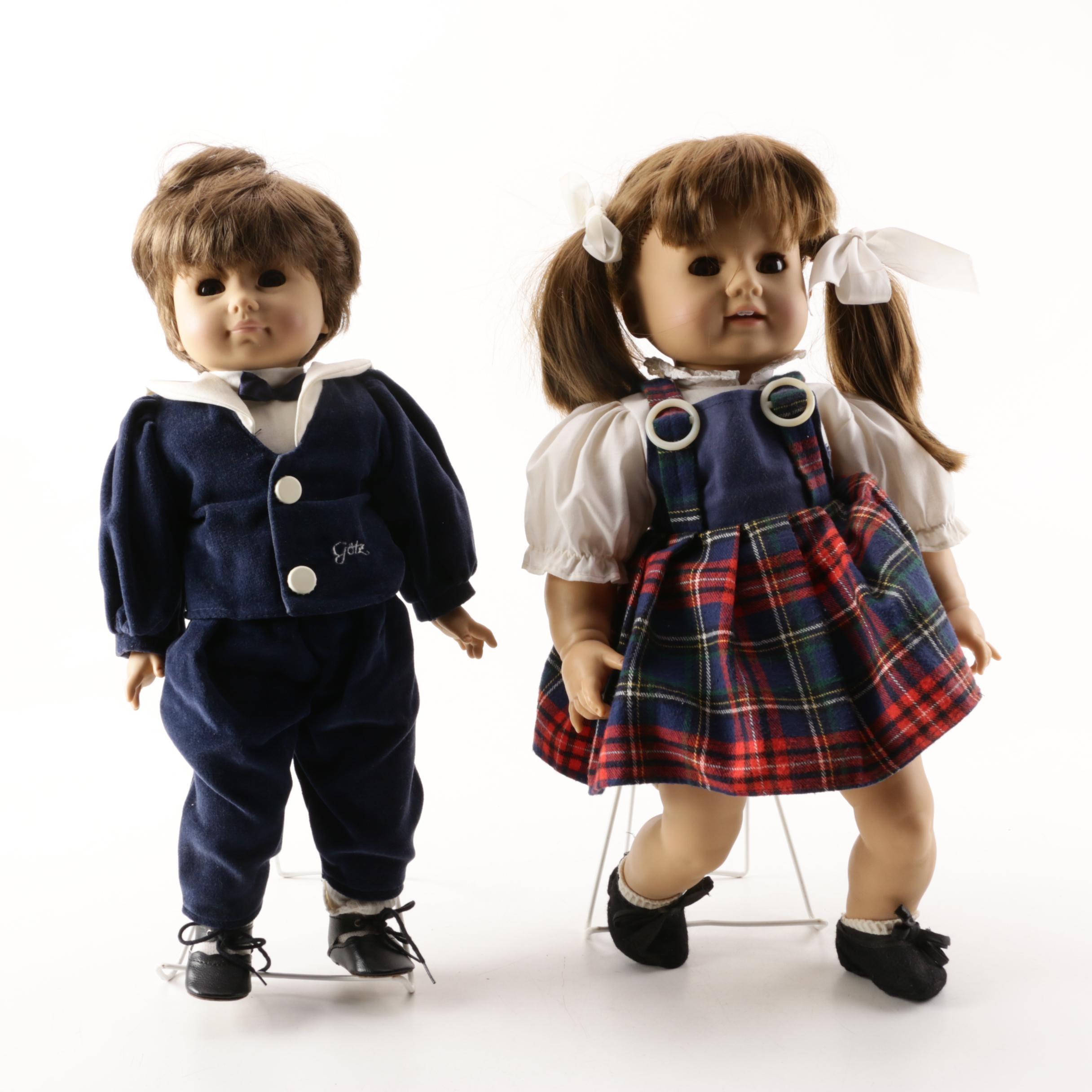 Vintage Vinyl Play Dolls Attributed to Götz