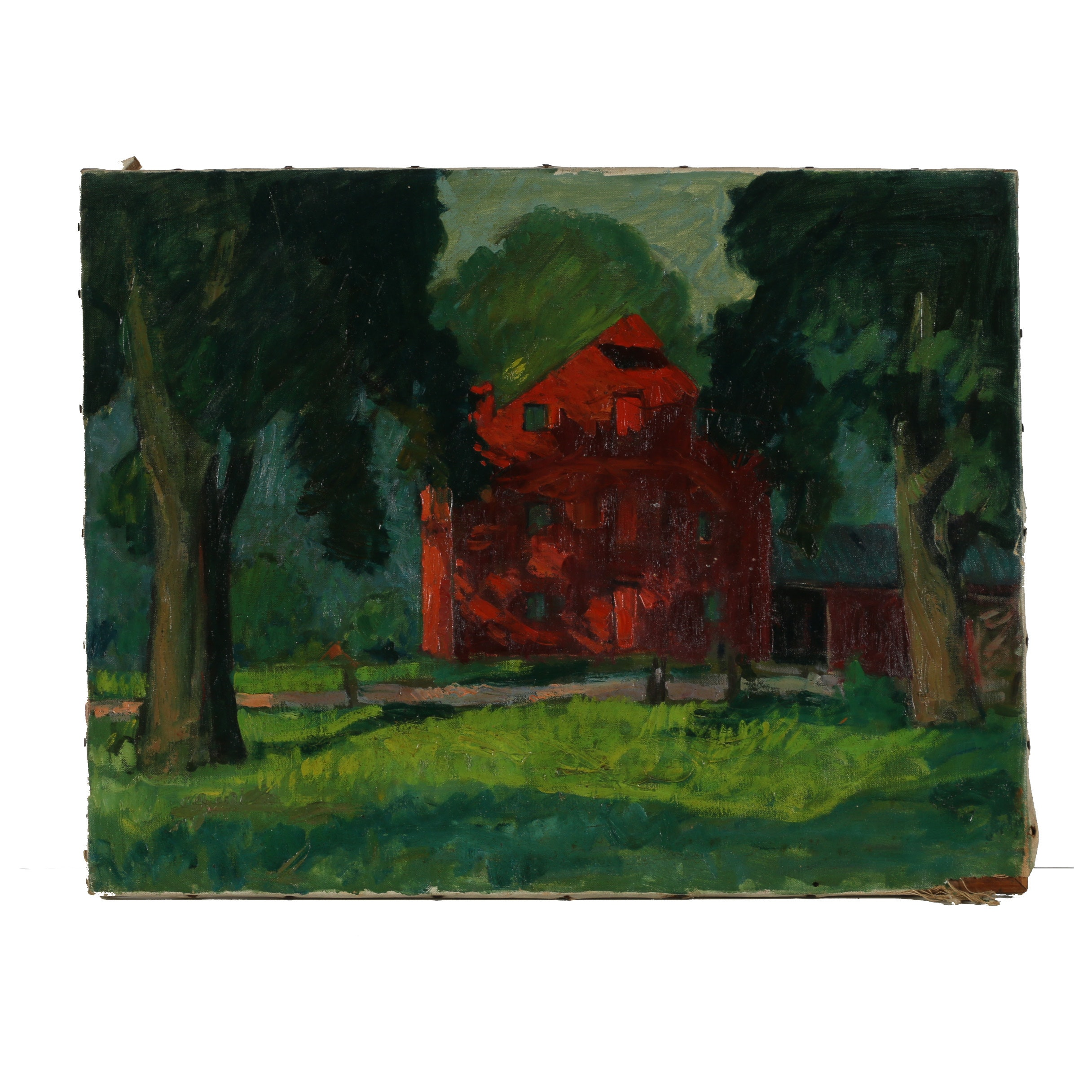 "Robert Whitmore Oil Painting ""Grinnell Mill, Yellow Springs"""