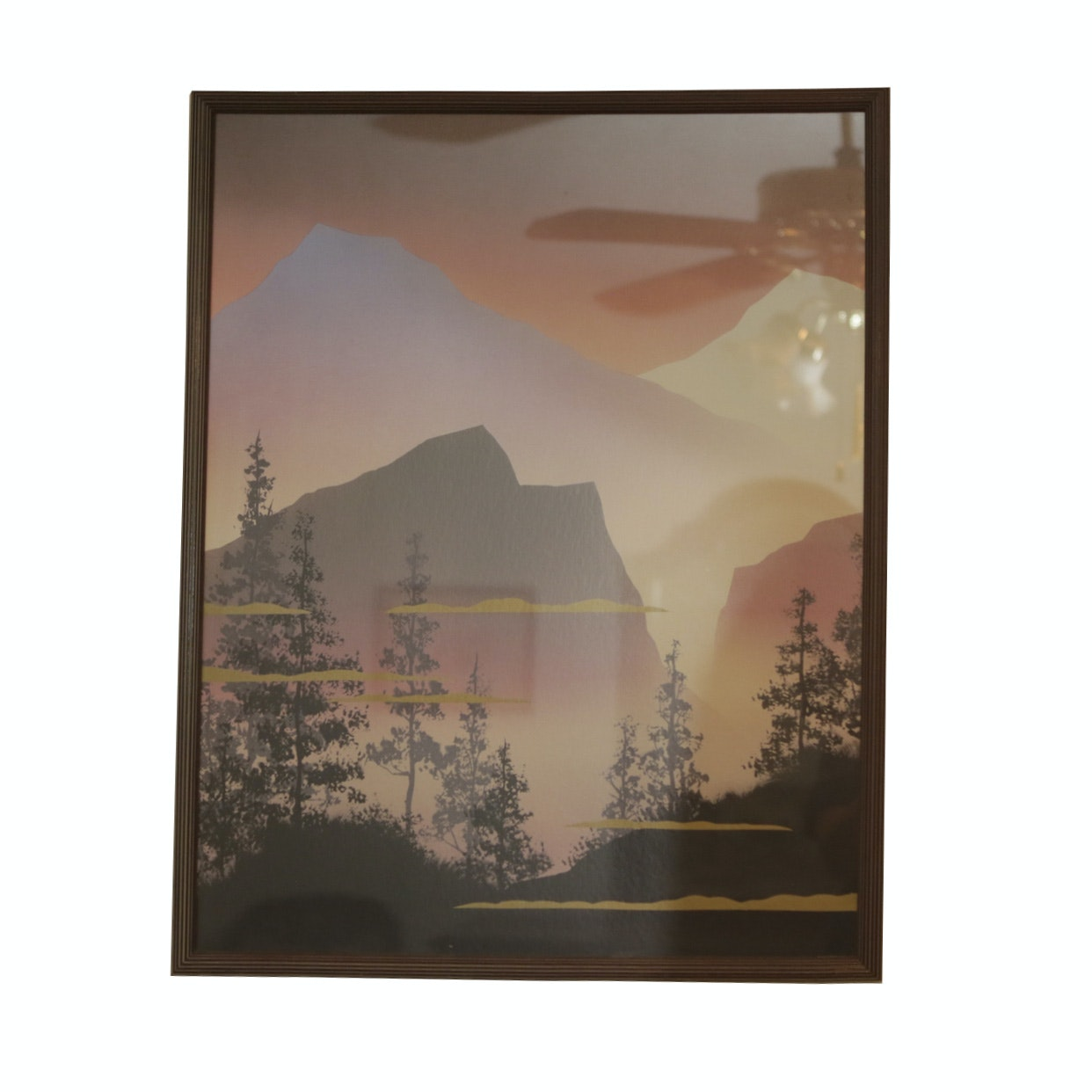 Offset Lithograph of Mountain Landscape