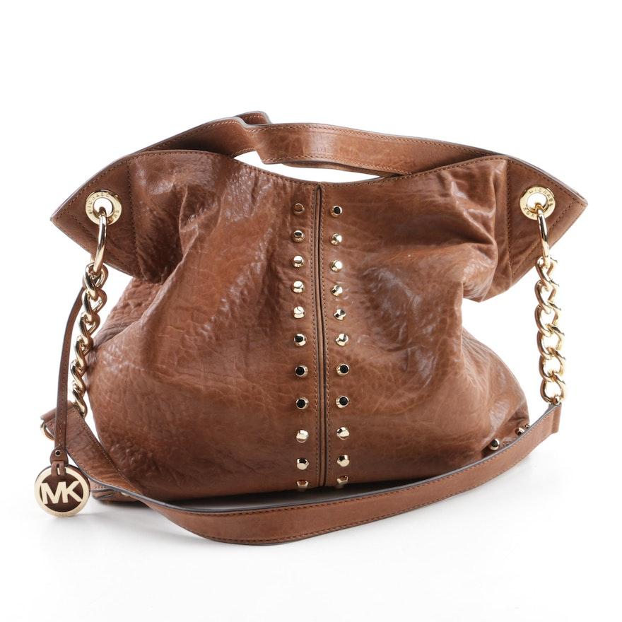caada2b7166cac MICHAEL Michael Kors Uptown Astor Brown Leather Shoulder Bag : EBTH
