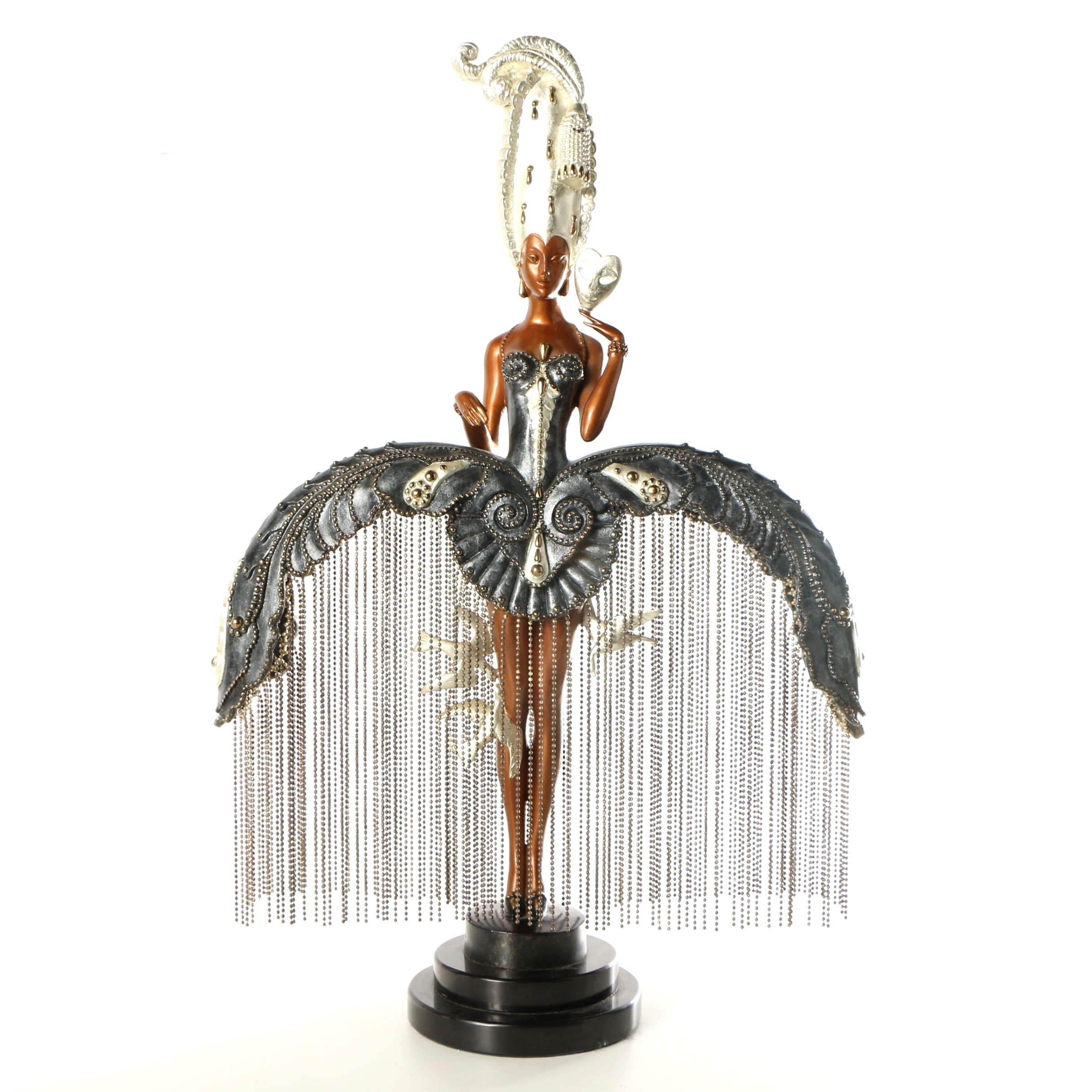 "Erté Patinated Bronze Sculpture ""Her Secret Admirers"""
