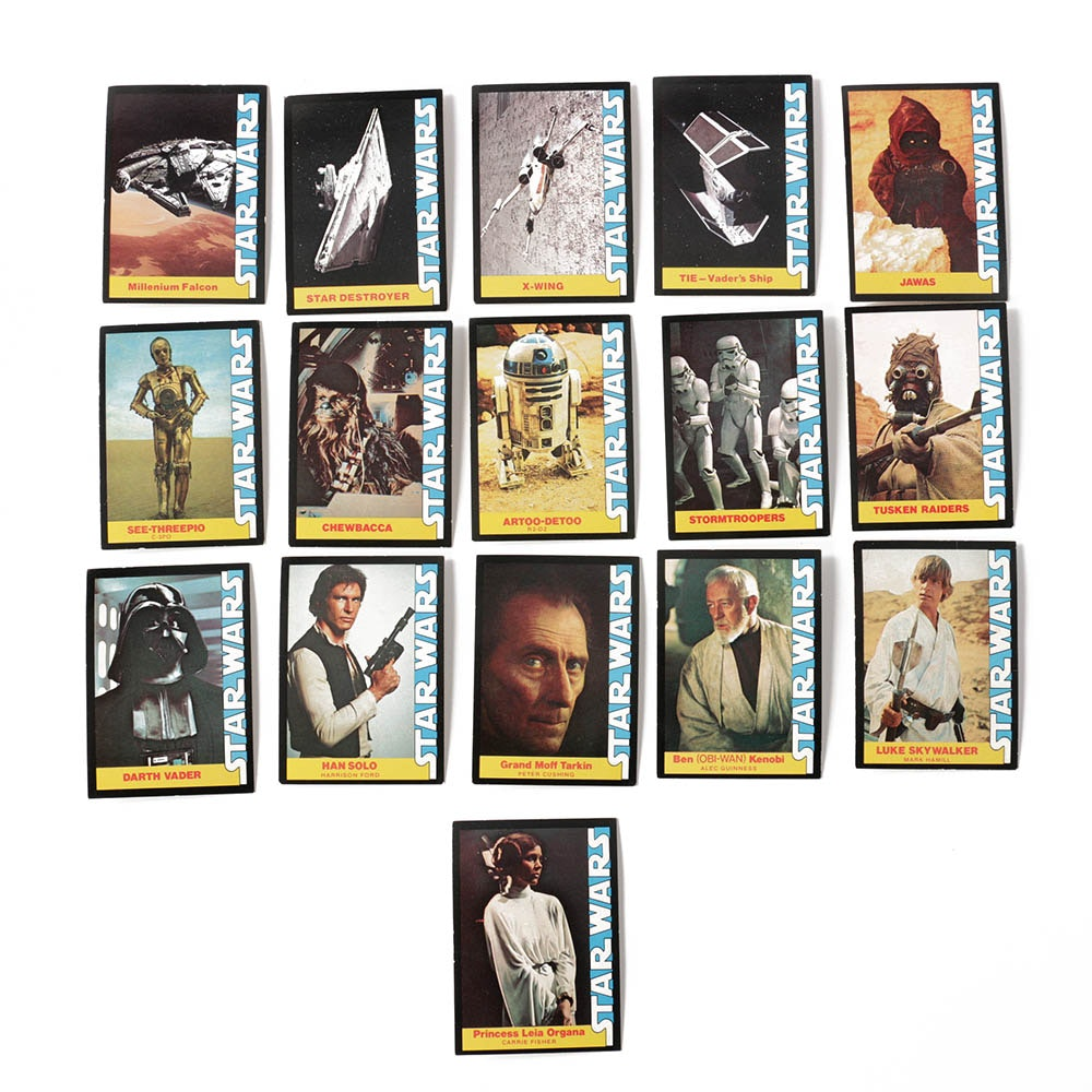 1977 Star Wars Trading Cards Complete Set from Wonder Bread