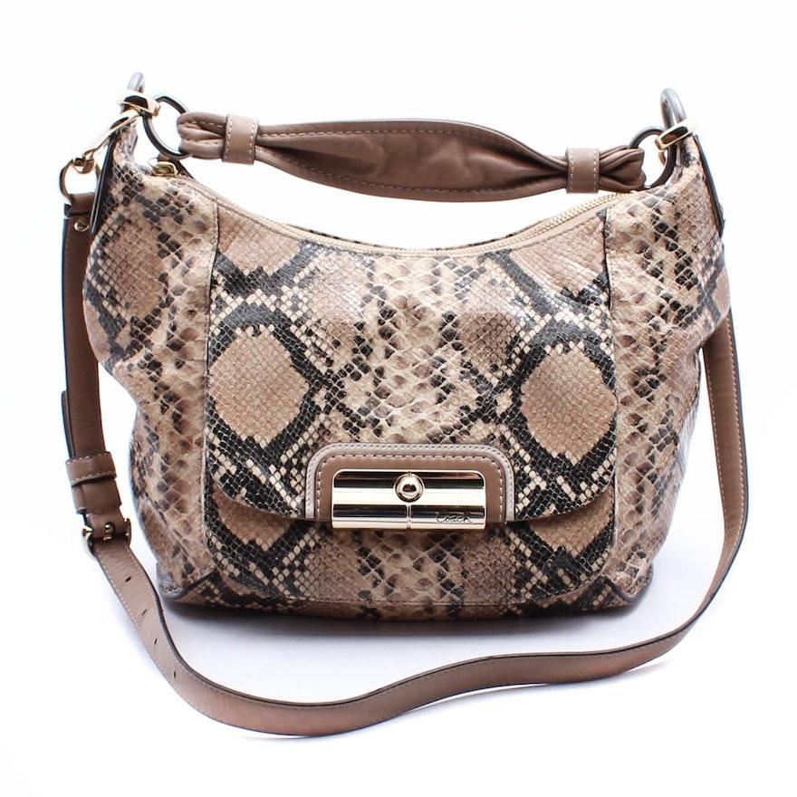 f4ec65bdf29 Coach Kristin Python Embossed Leather Hobo Handbag   EBTH