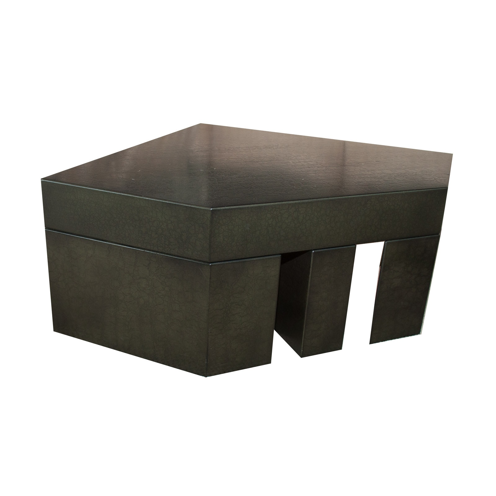 Hand Crafted Contemporary Black Lacquer Coffee Table
