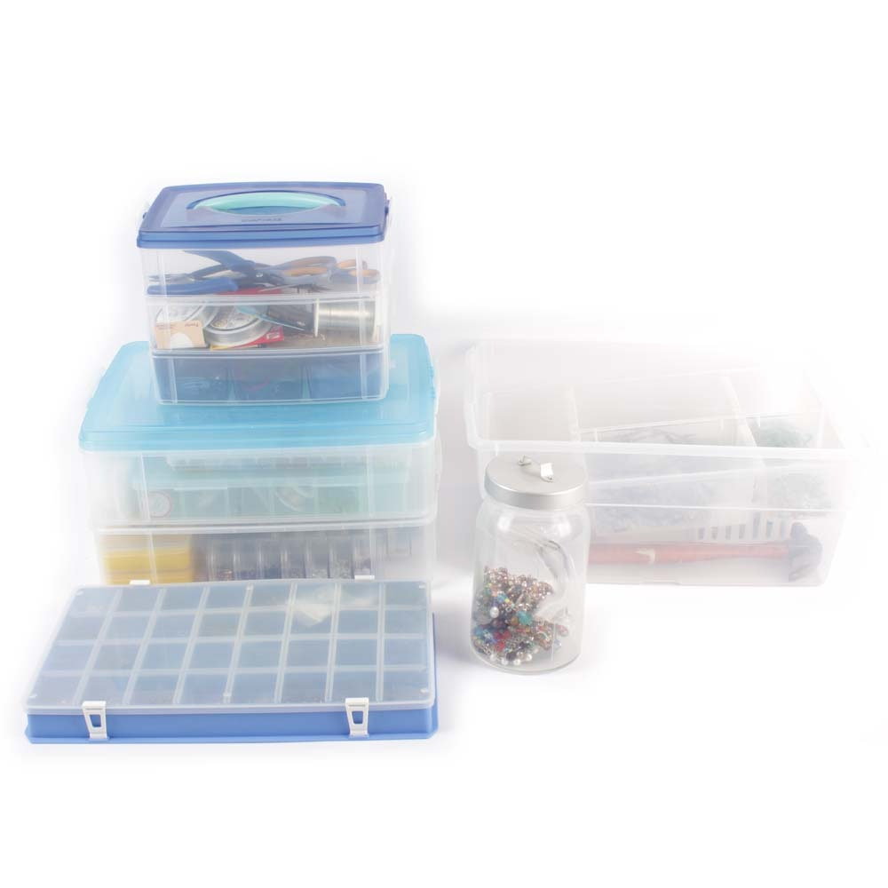 Large Assortment of Jewelry Making Supplies