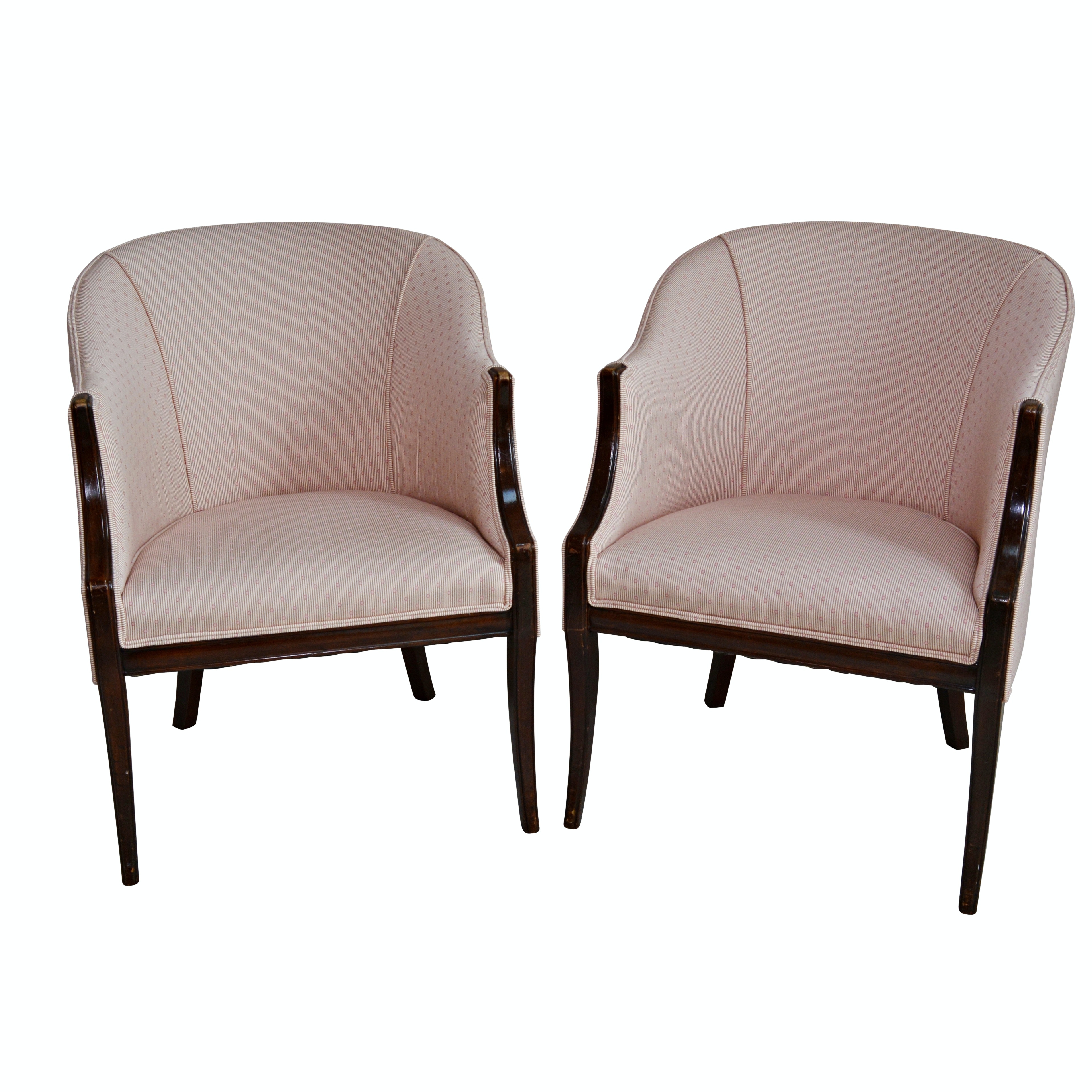 Barrel Back Armchairs