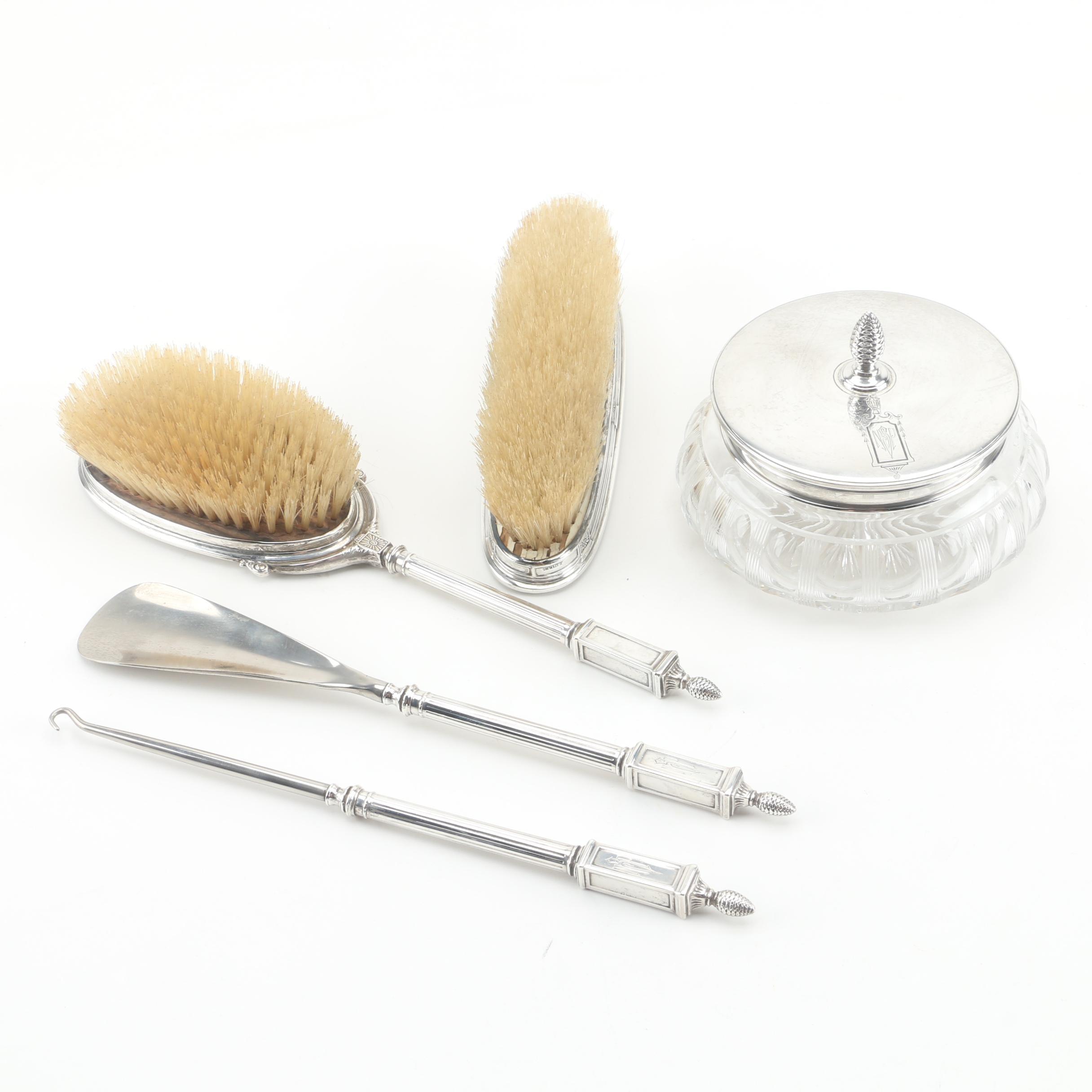 La Pierre Sterling Silver Monogrammed Vanity Set