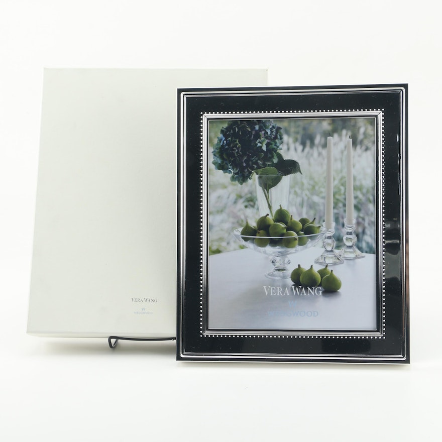 Wedgwood Grosgrain Silver Plate Picture Frame Designed By Vera