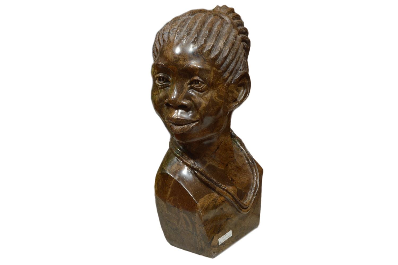 Sailas Makumba Shona Carved Fruit Serpentine Bust