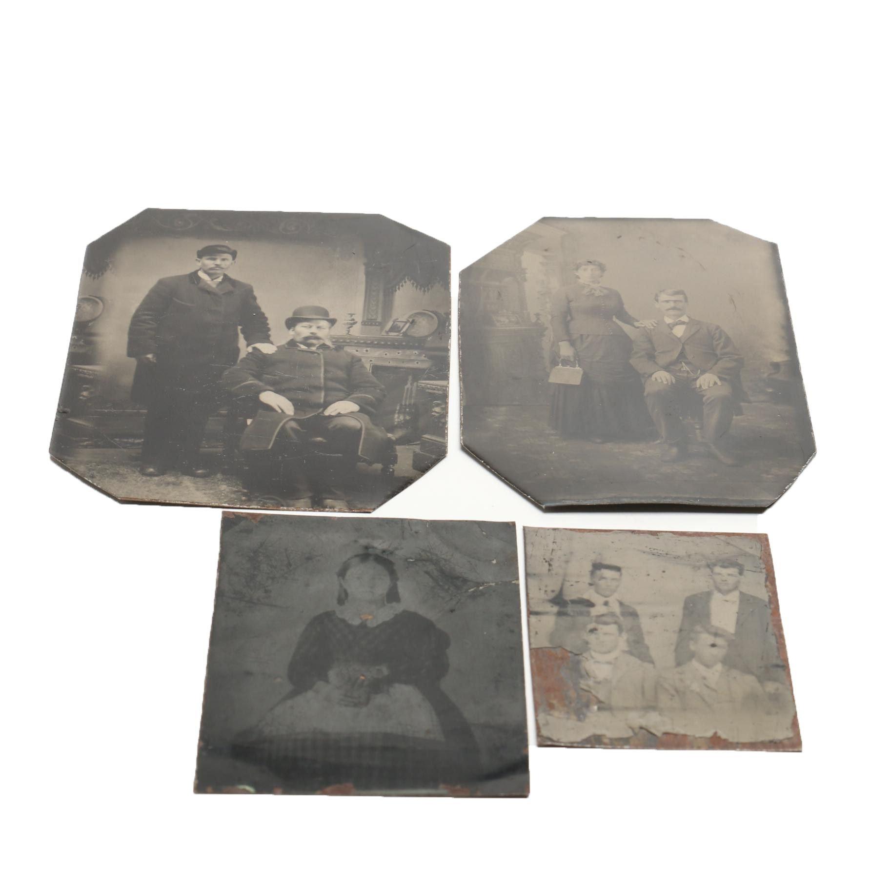 Four Antique Tintypes