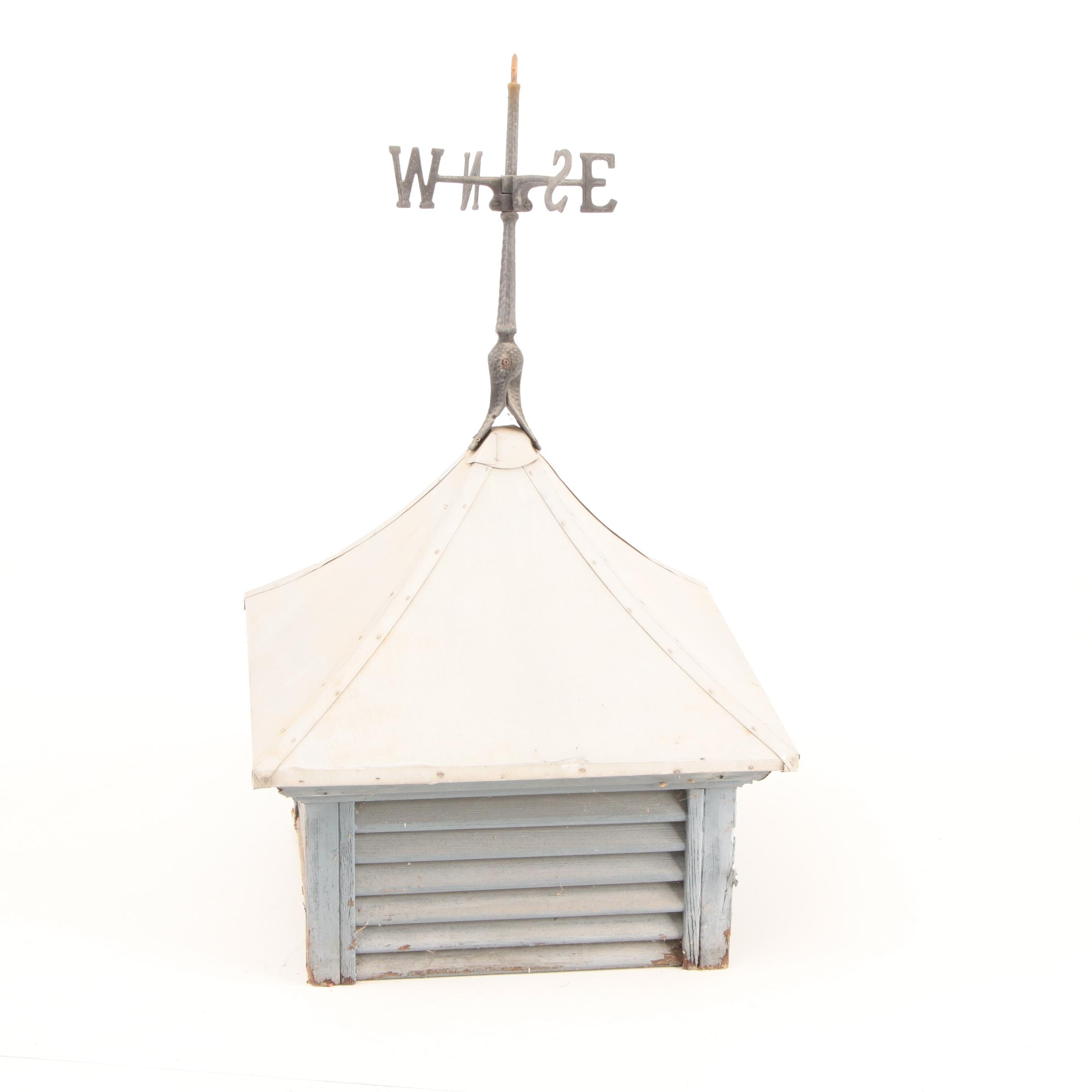 Vintage Cupola with Weathervane