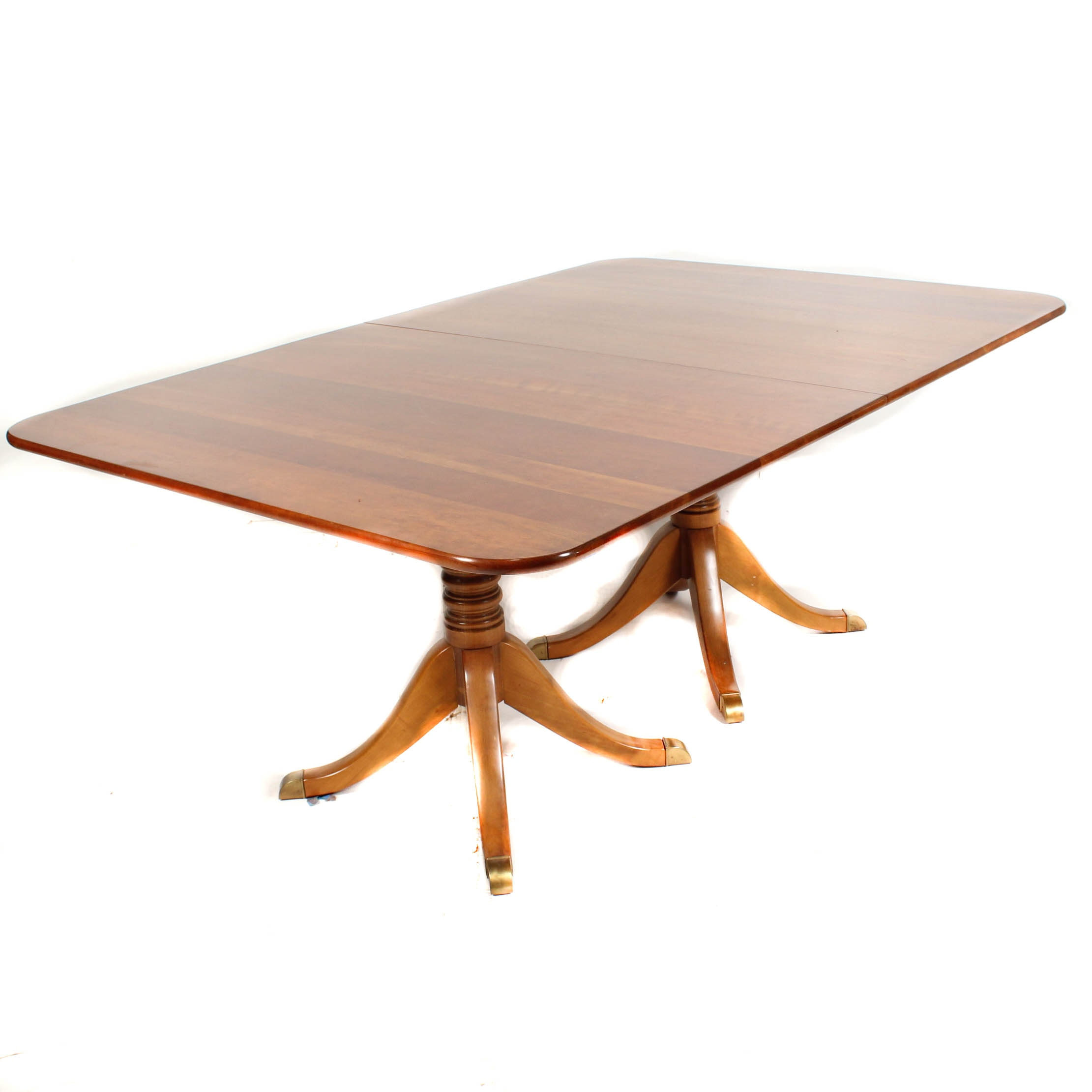 Leopold Stickley Expandable Double Pedestal Dining Table ...