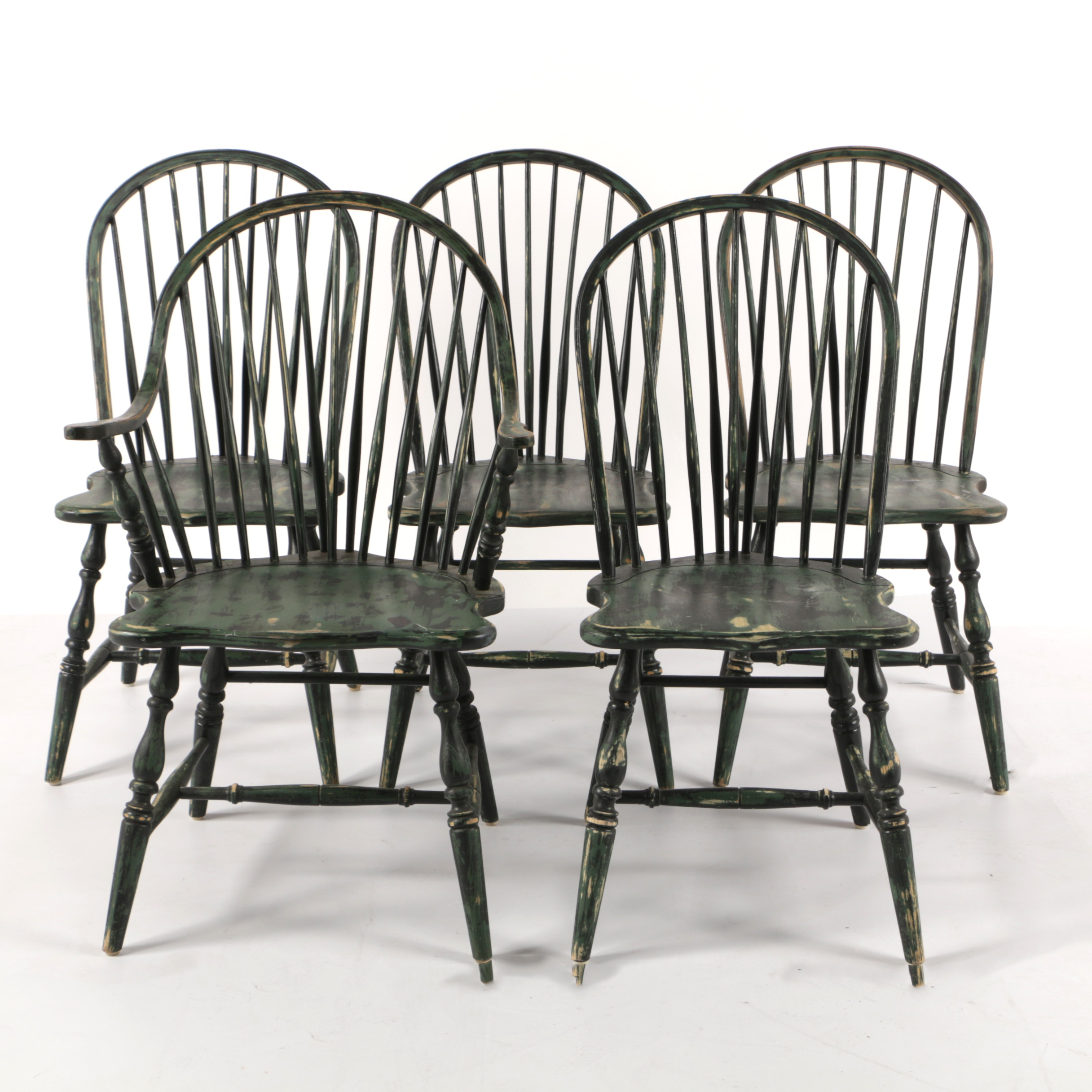 Vintage Painted Windsor Dining Chairs