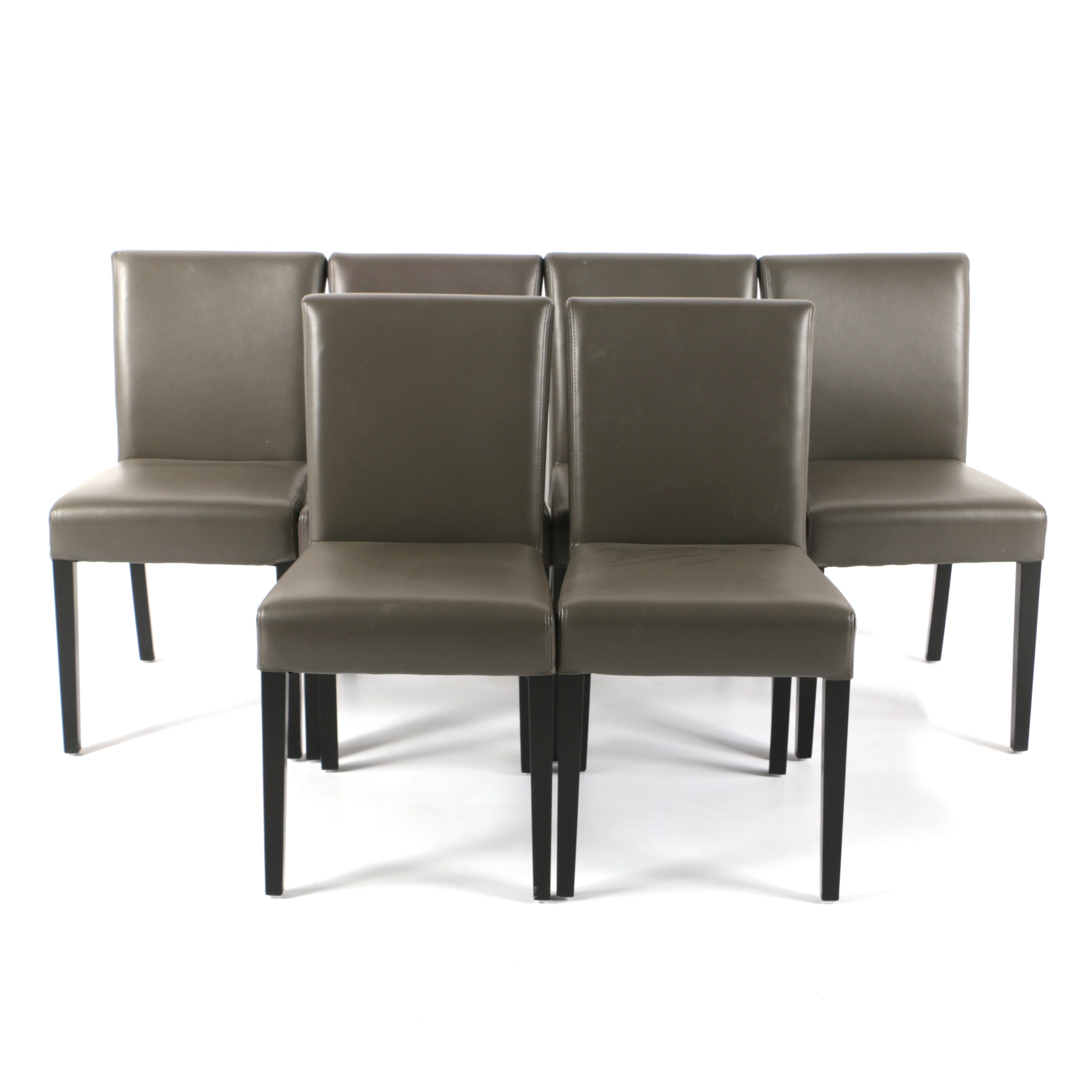 Contemporary Leather Dining Chairs from Crate and Barrel