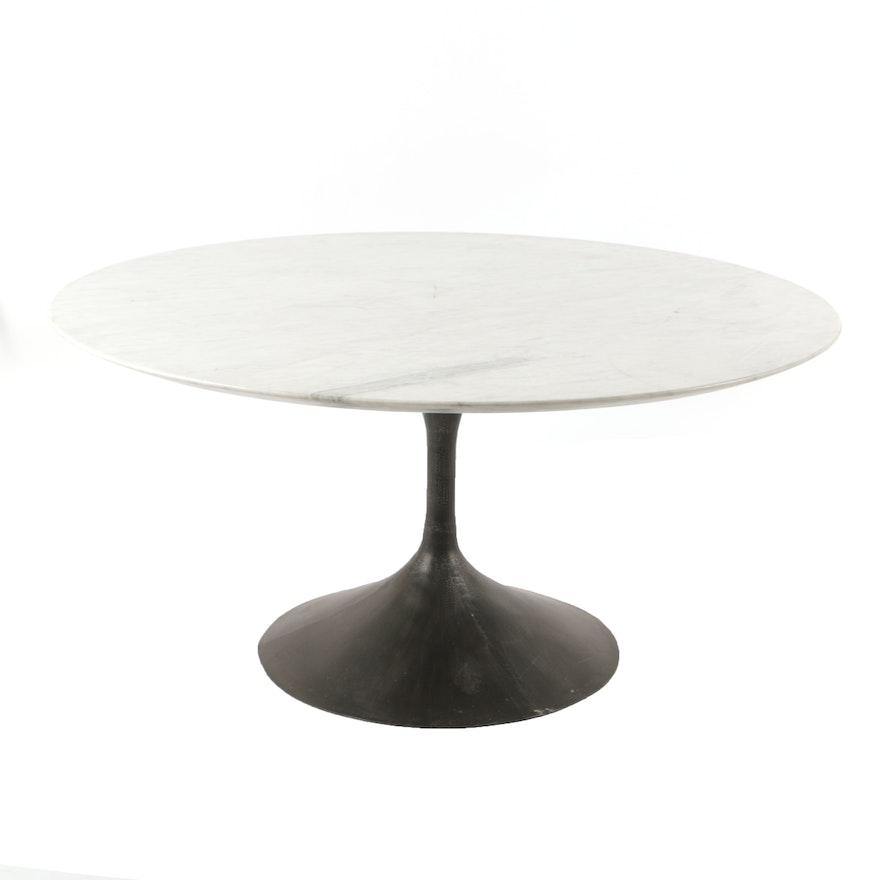 Restoration Hardware Quot Aero Quot Marble Top Dining Table Ebth