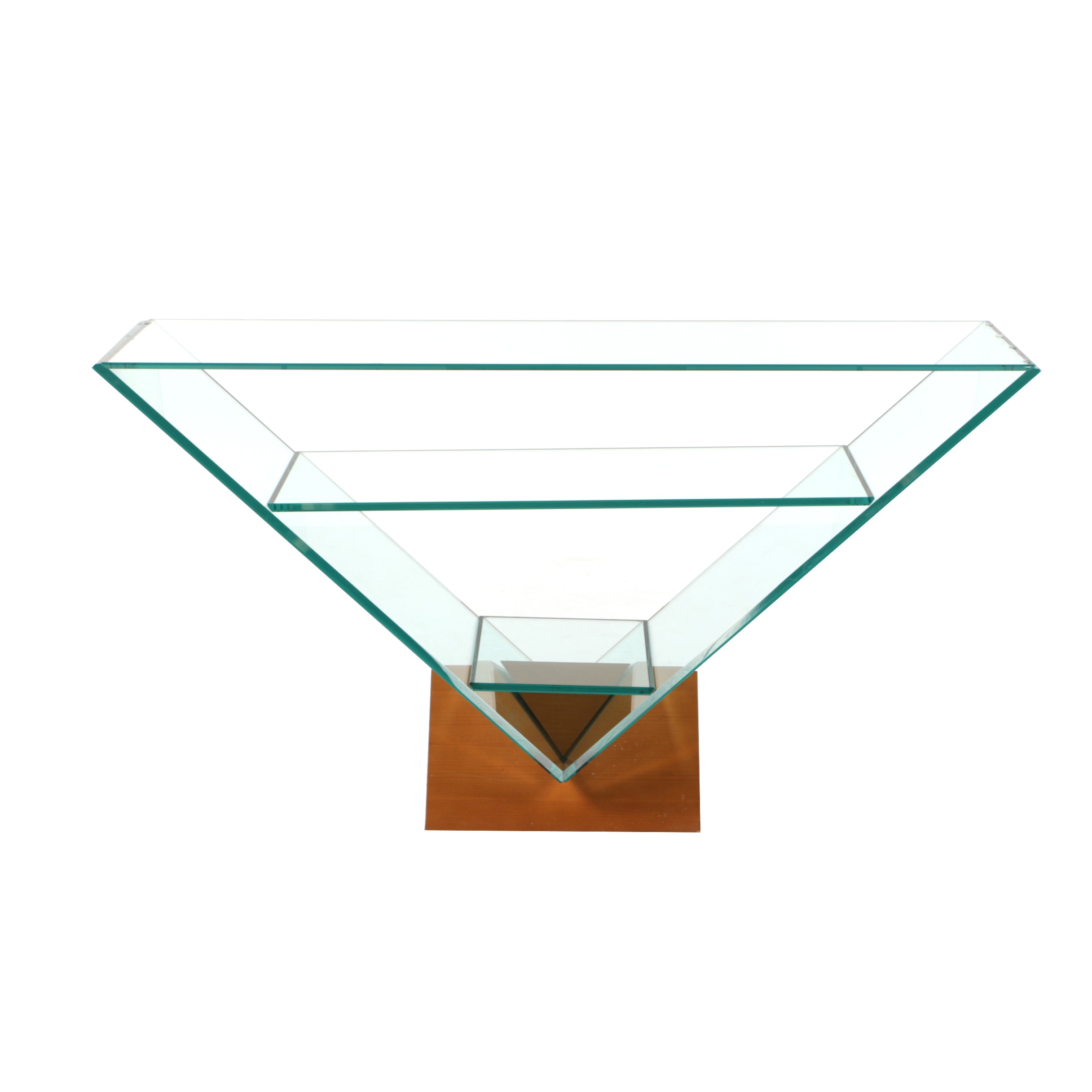 """""""Victoire"""" Glass Three-Tier Console Table by Maurice Barilone for Roche Bobois"""