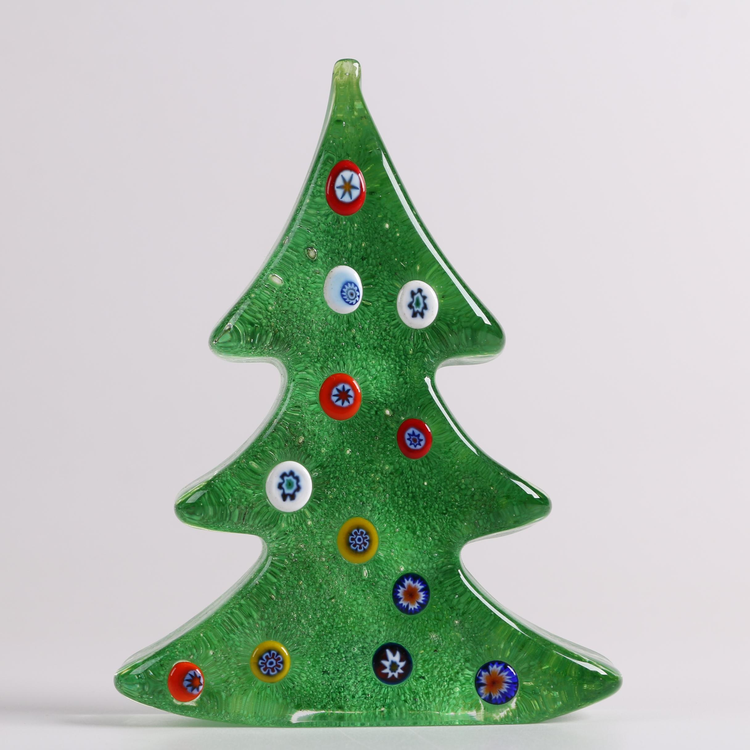 Murano Glass Millefiori Tree Figurine