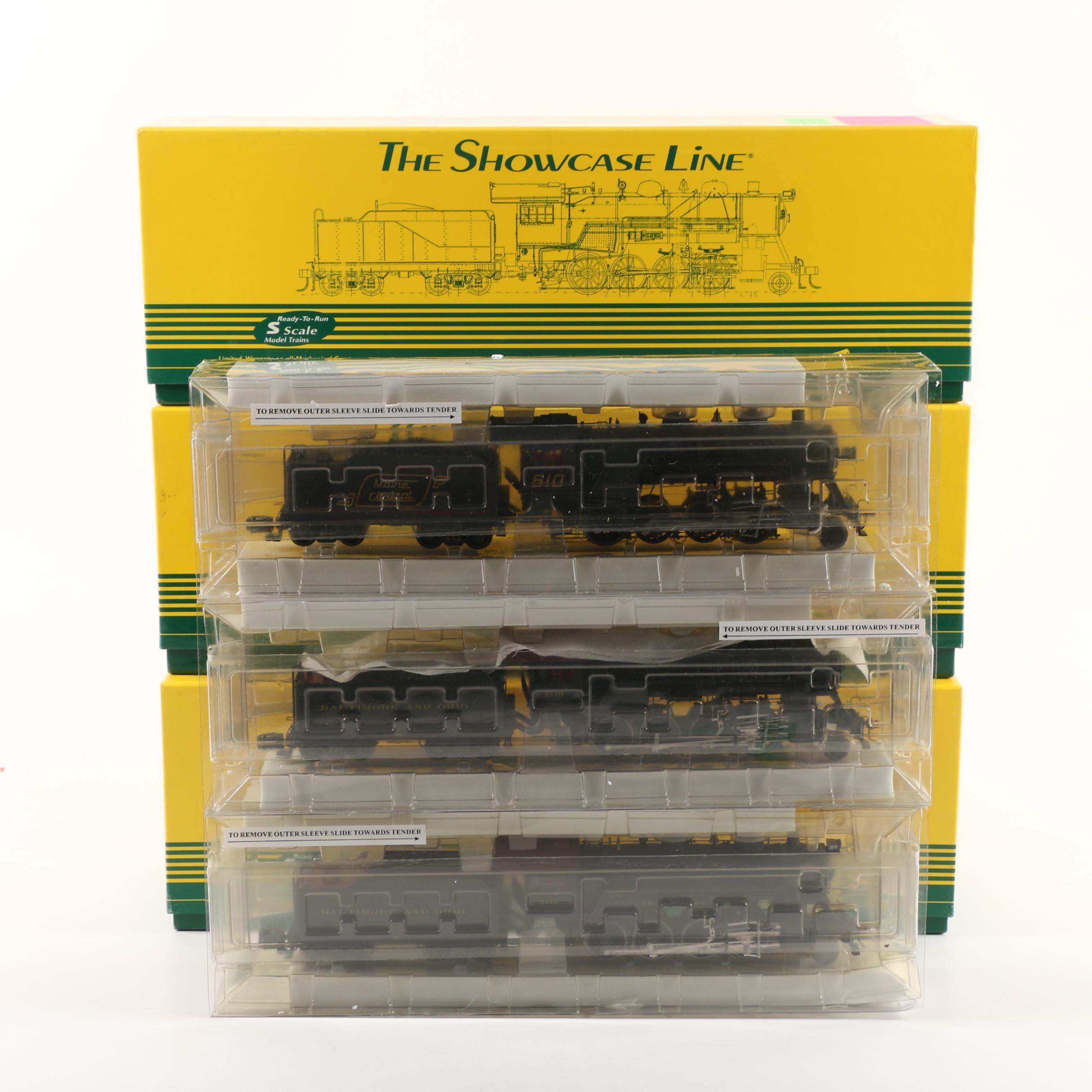 The Showcase Line S-Gauge Steam Locomotives