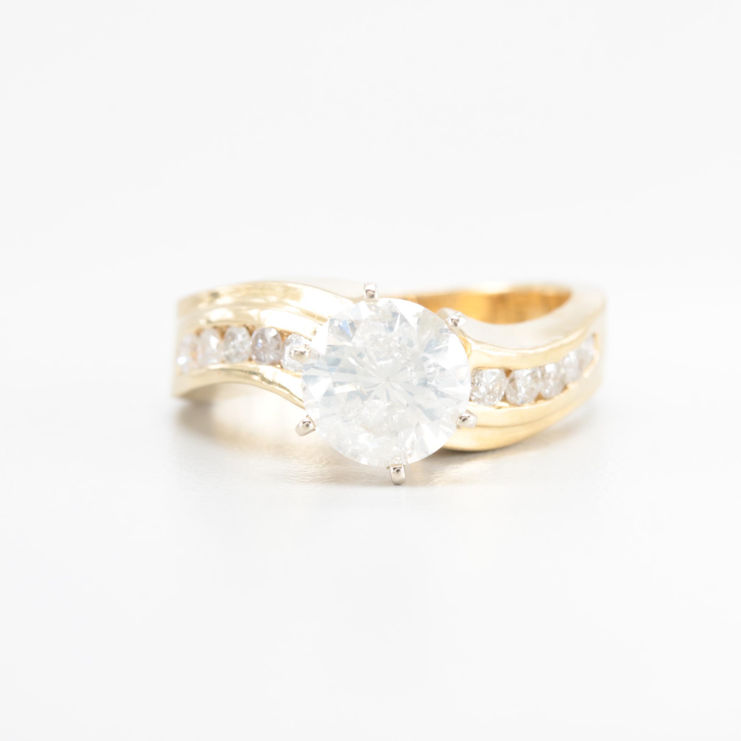 14K Yellow Gold 1.97 CTW Diamond Ring