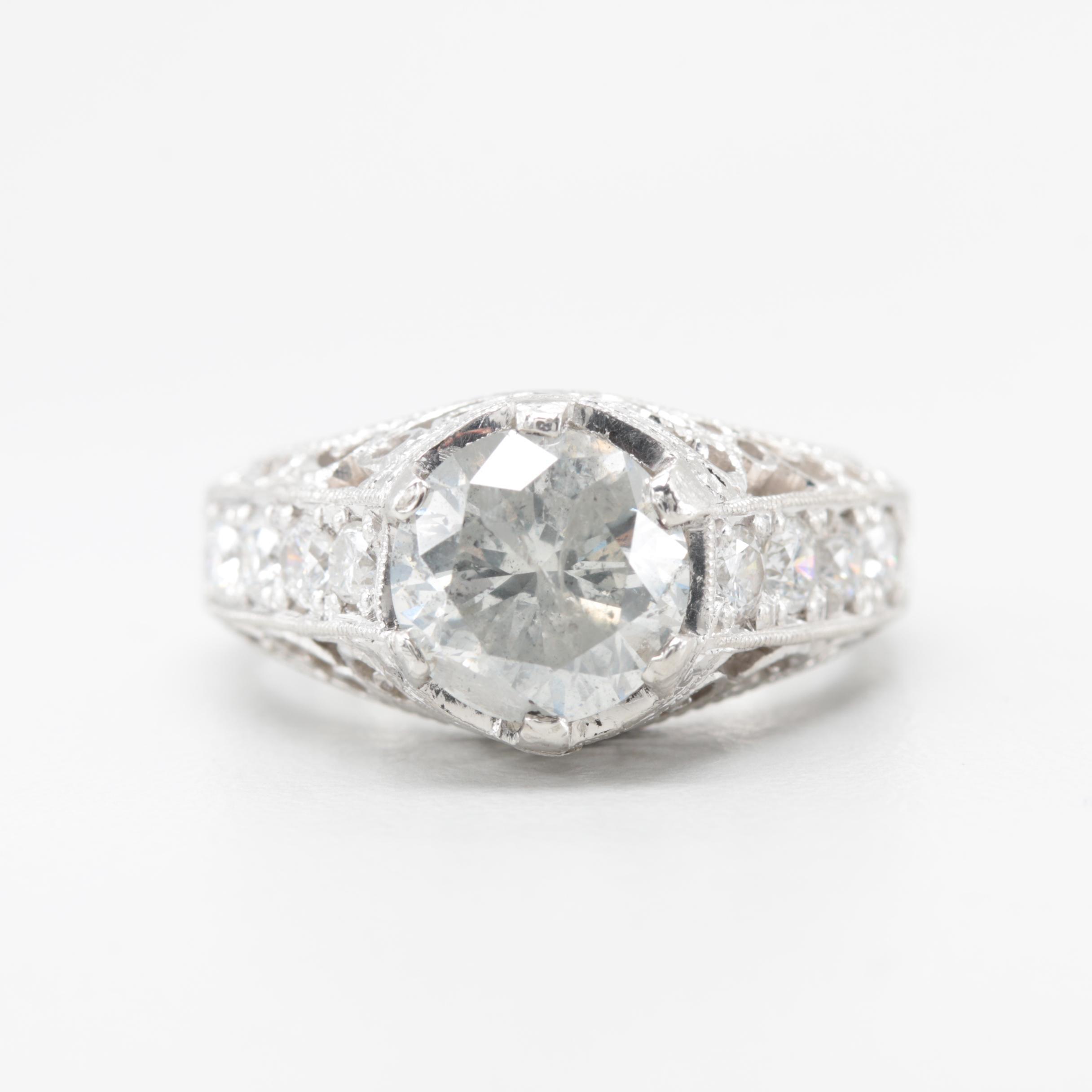 Platinum 2.62 CTW Diamond Ring