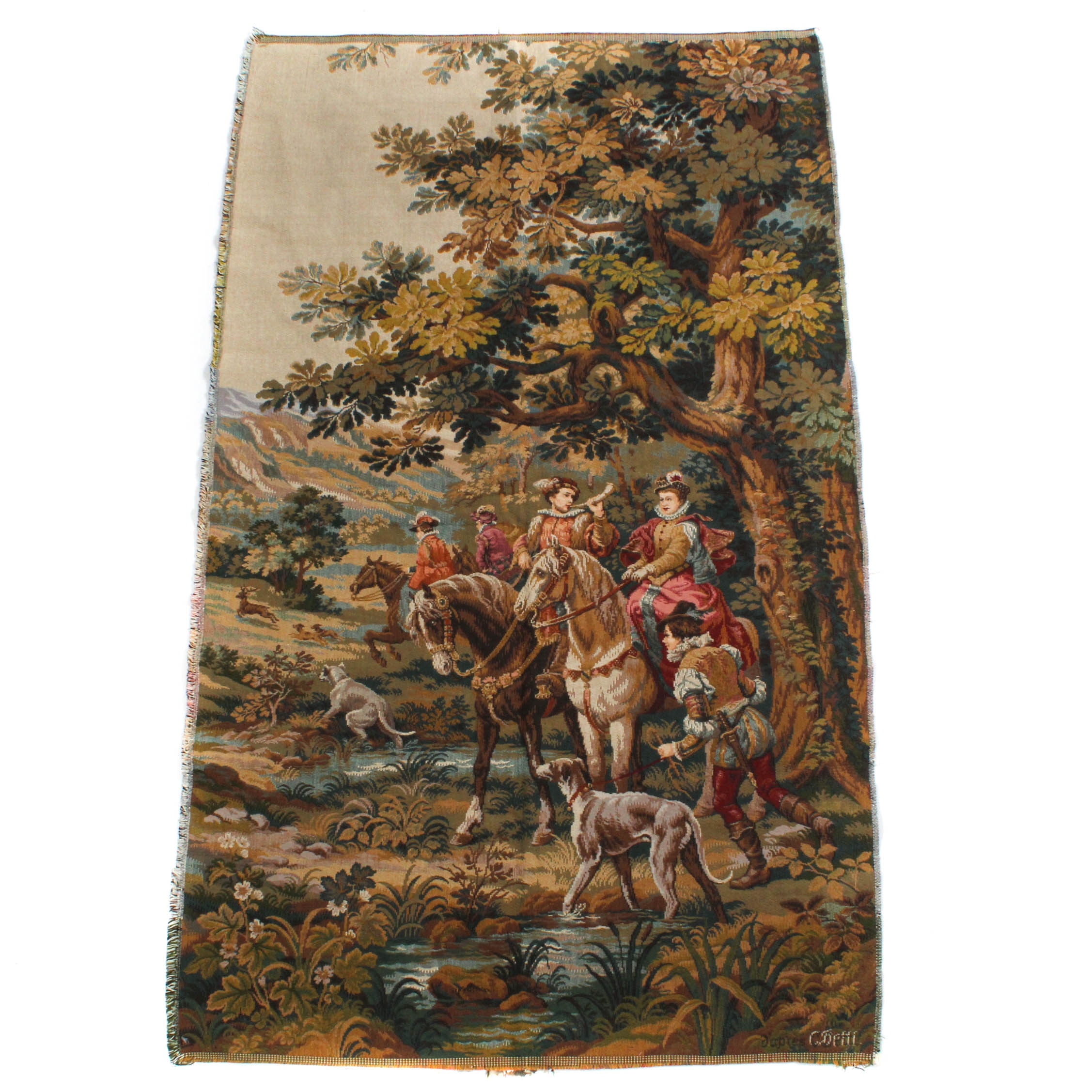 French Style European Pictorial Tapestry