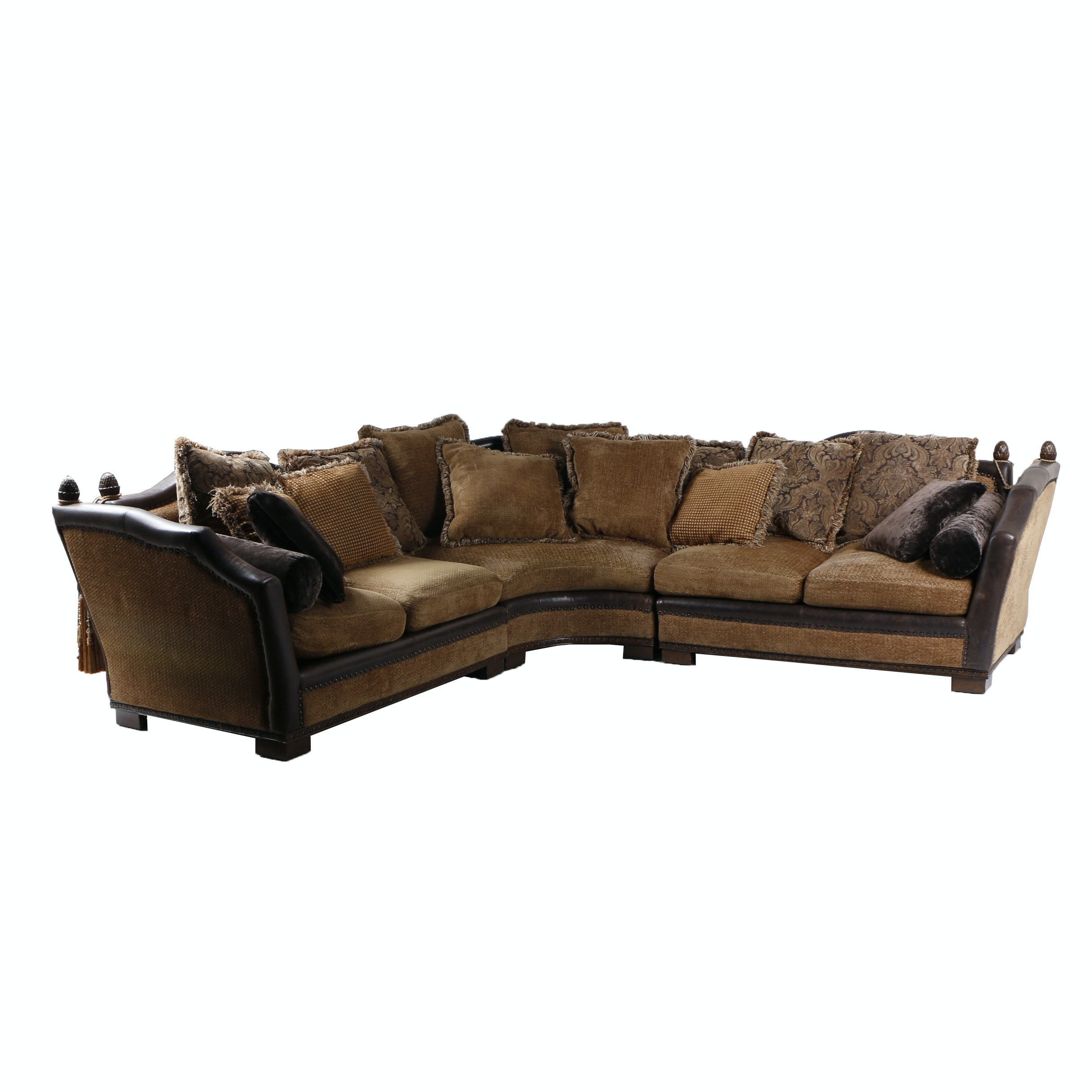 Contemporary Upholstered Three-Piece Sectional Sofa