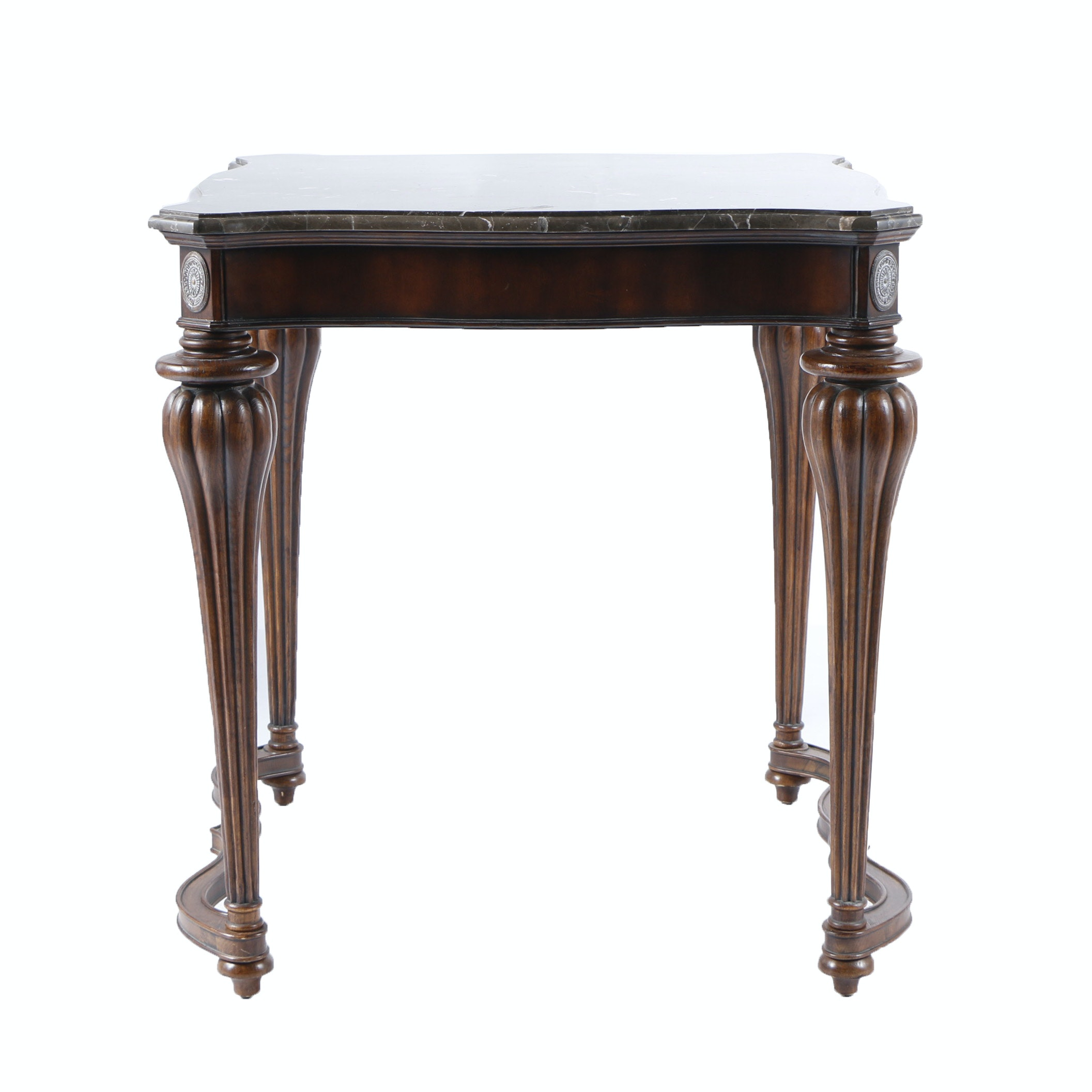 Contemporary Neoclassical Style Entry Table