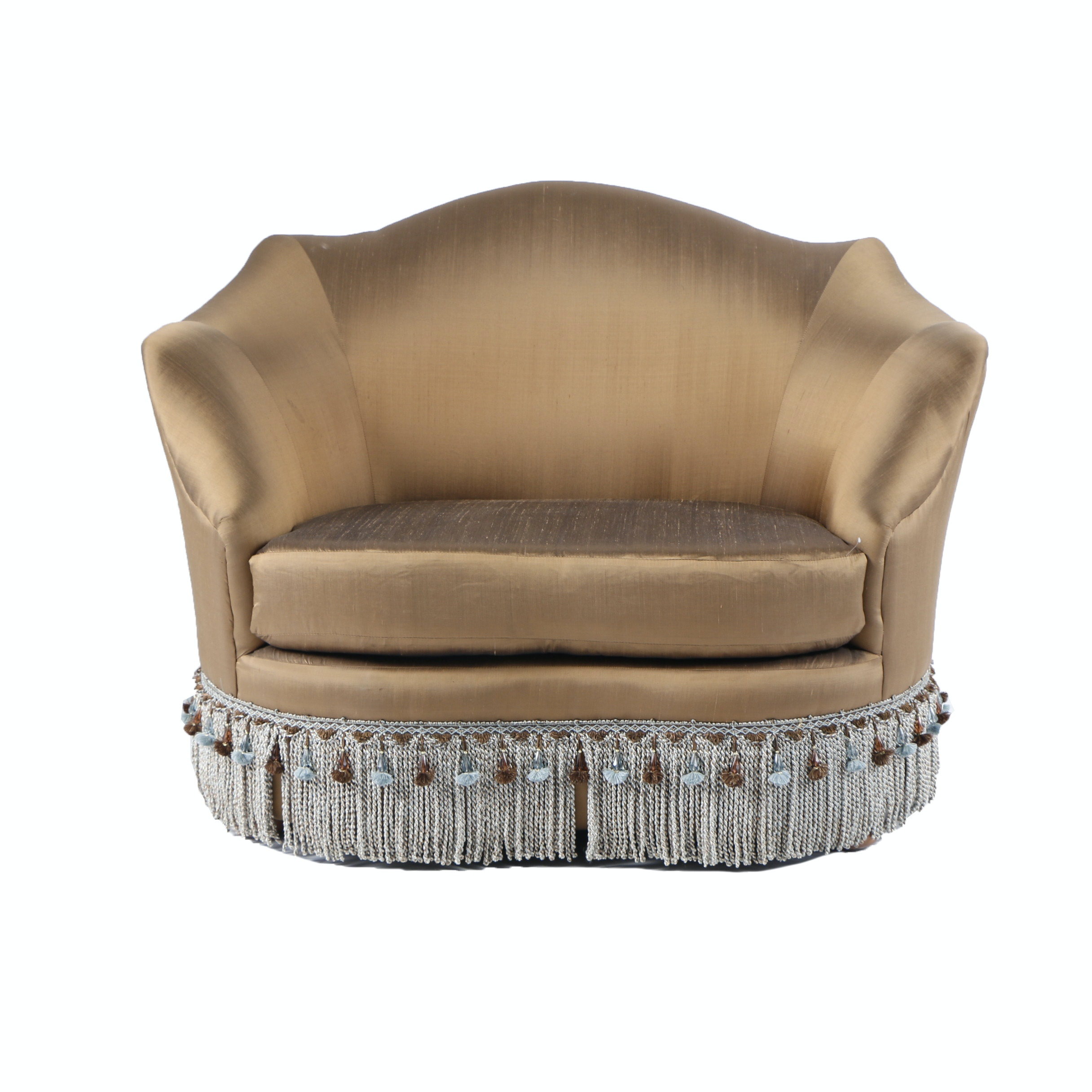 Lounge Chair In Bronze Satin Type Upholstery ...