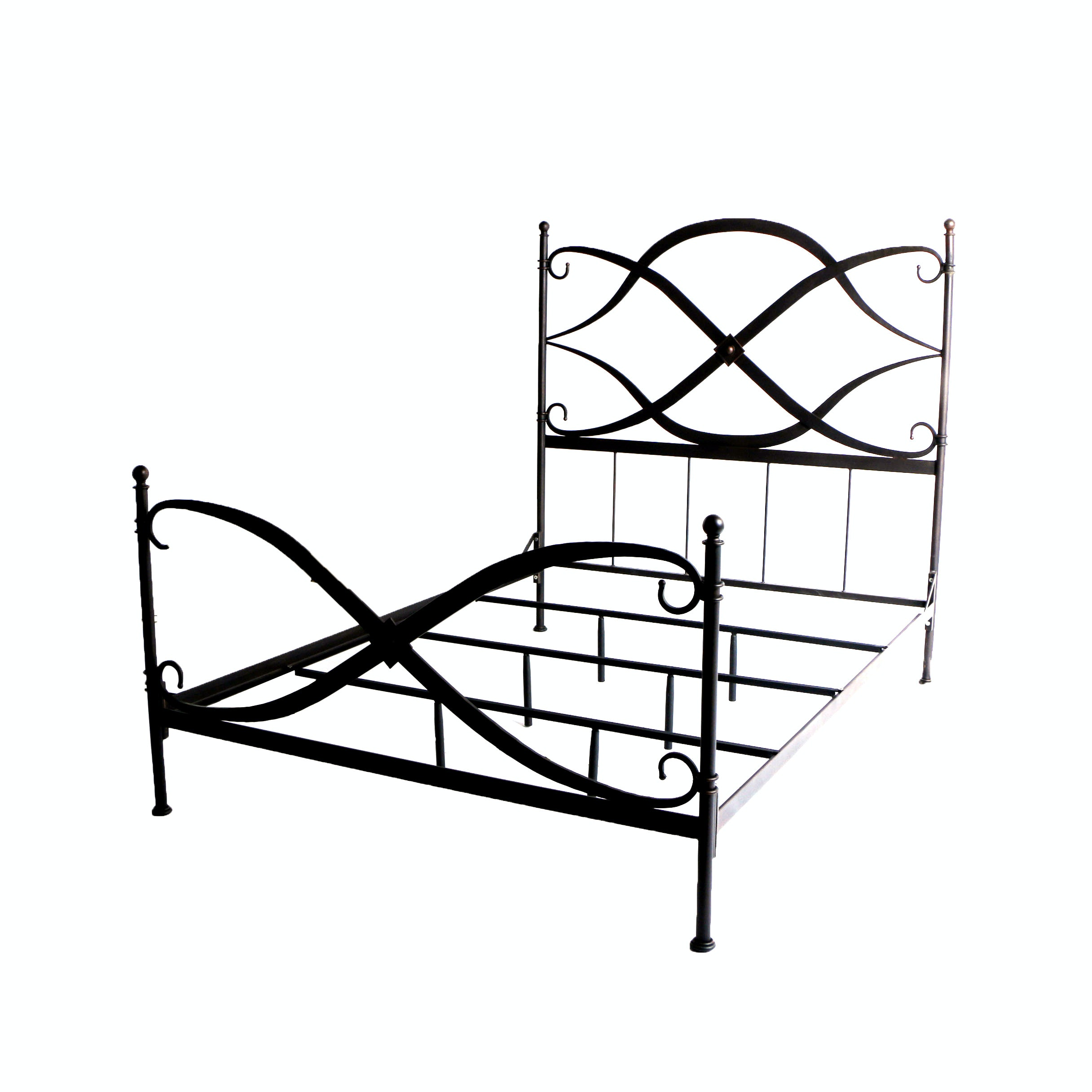 Contemporary Metal Queen Size Bed Frame from Aurhaus Furniture