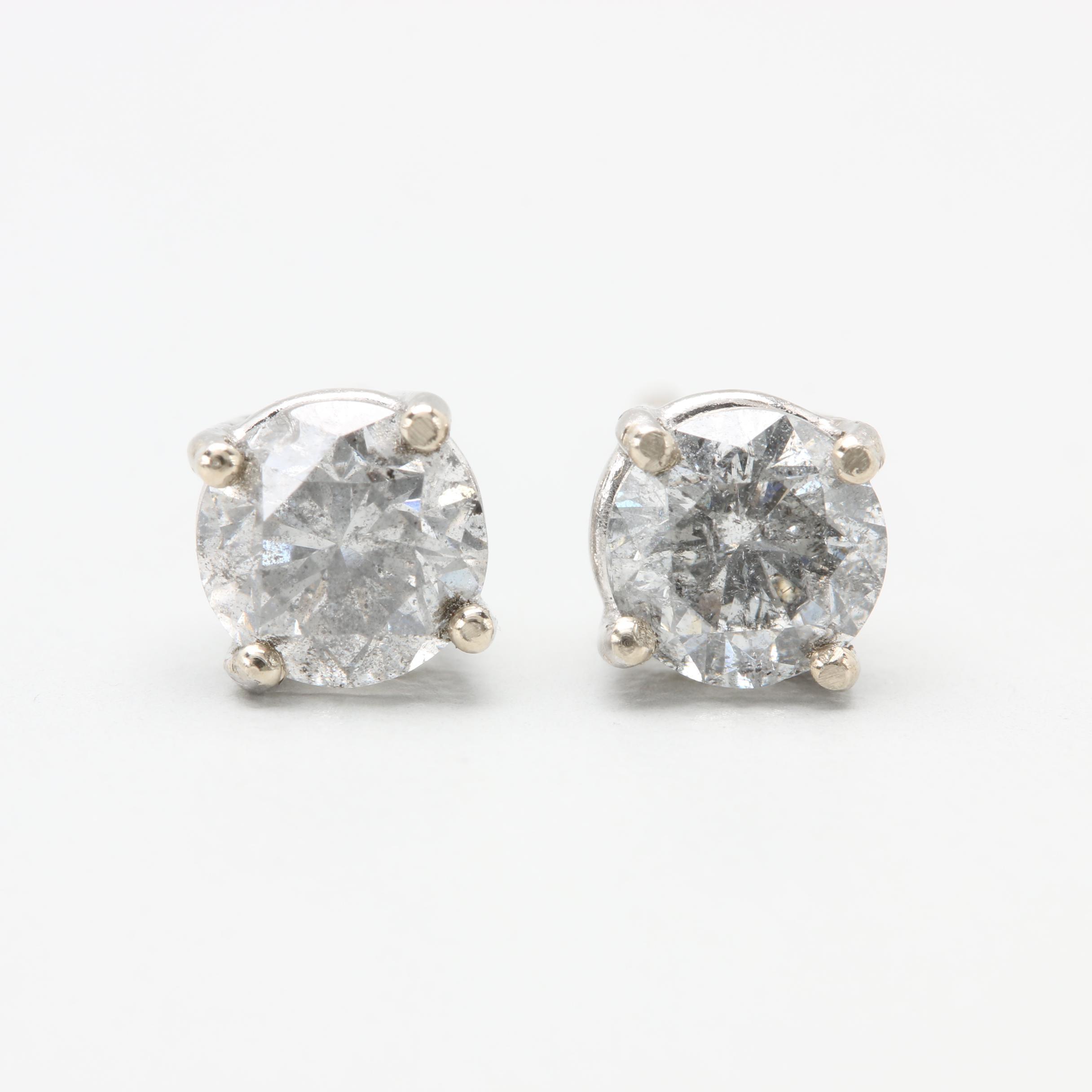 18K White Gold 1.27 CTW Diamond Earrings