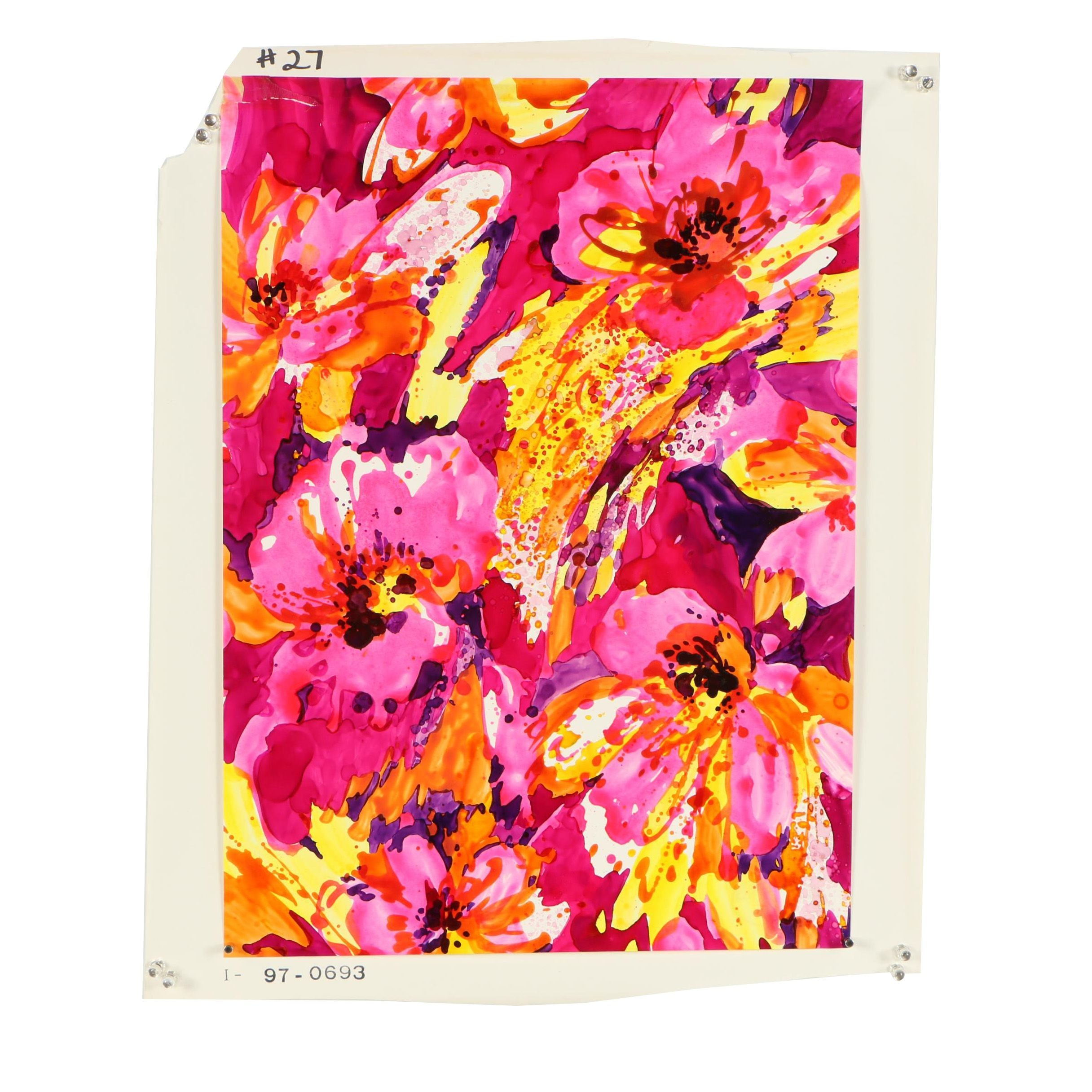 Acrylic Painted Textile Proof
