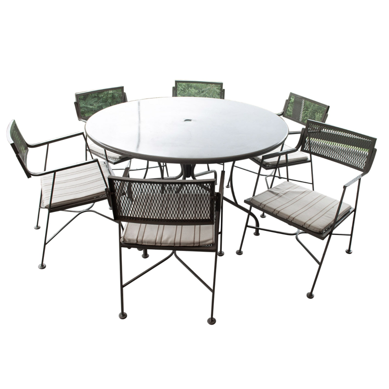 Vintage Outdoor Metal Table and Chair Set