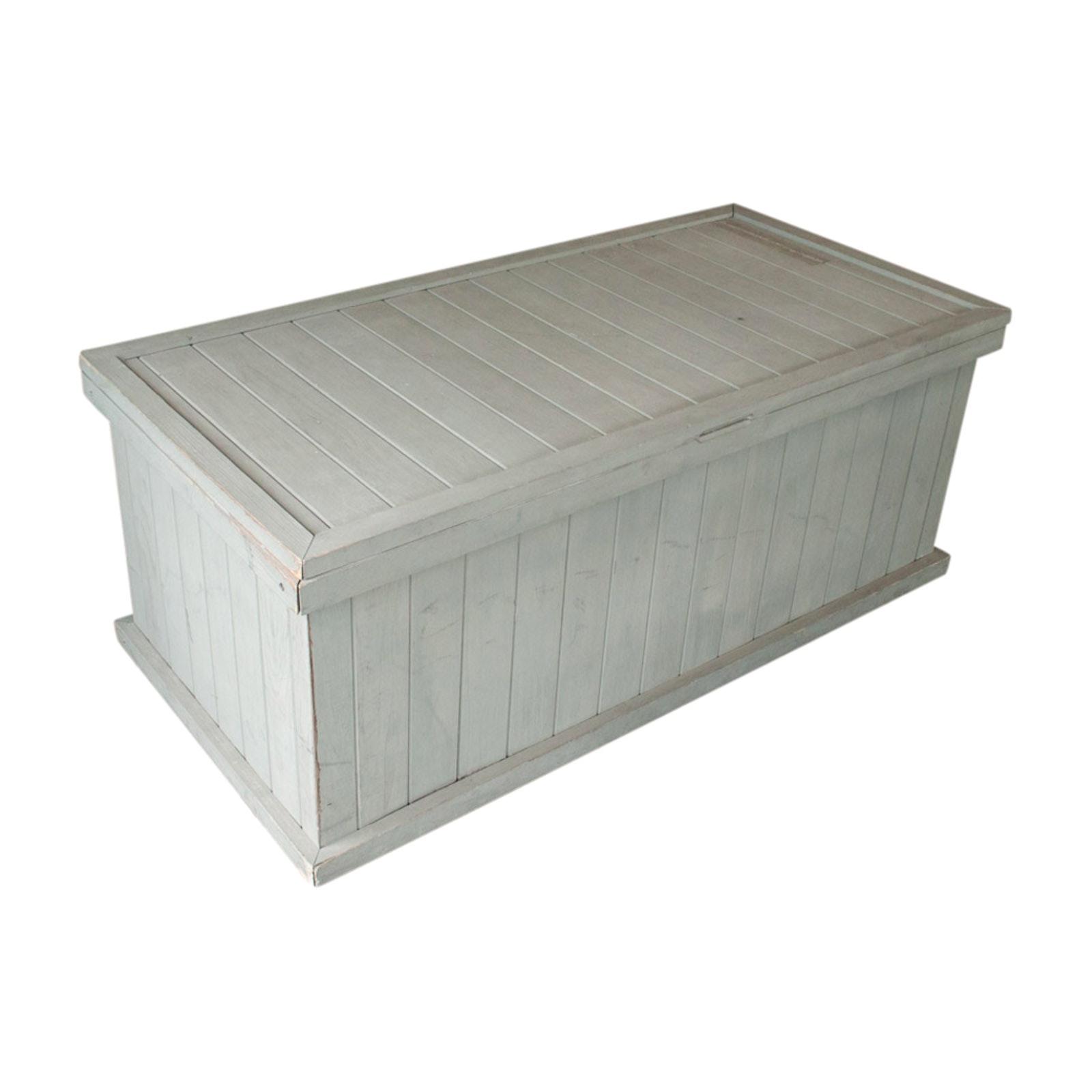 Wooden Patio Storage Bin