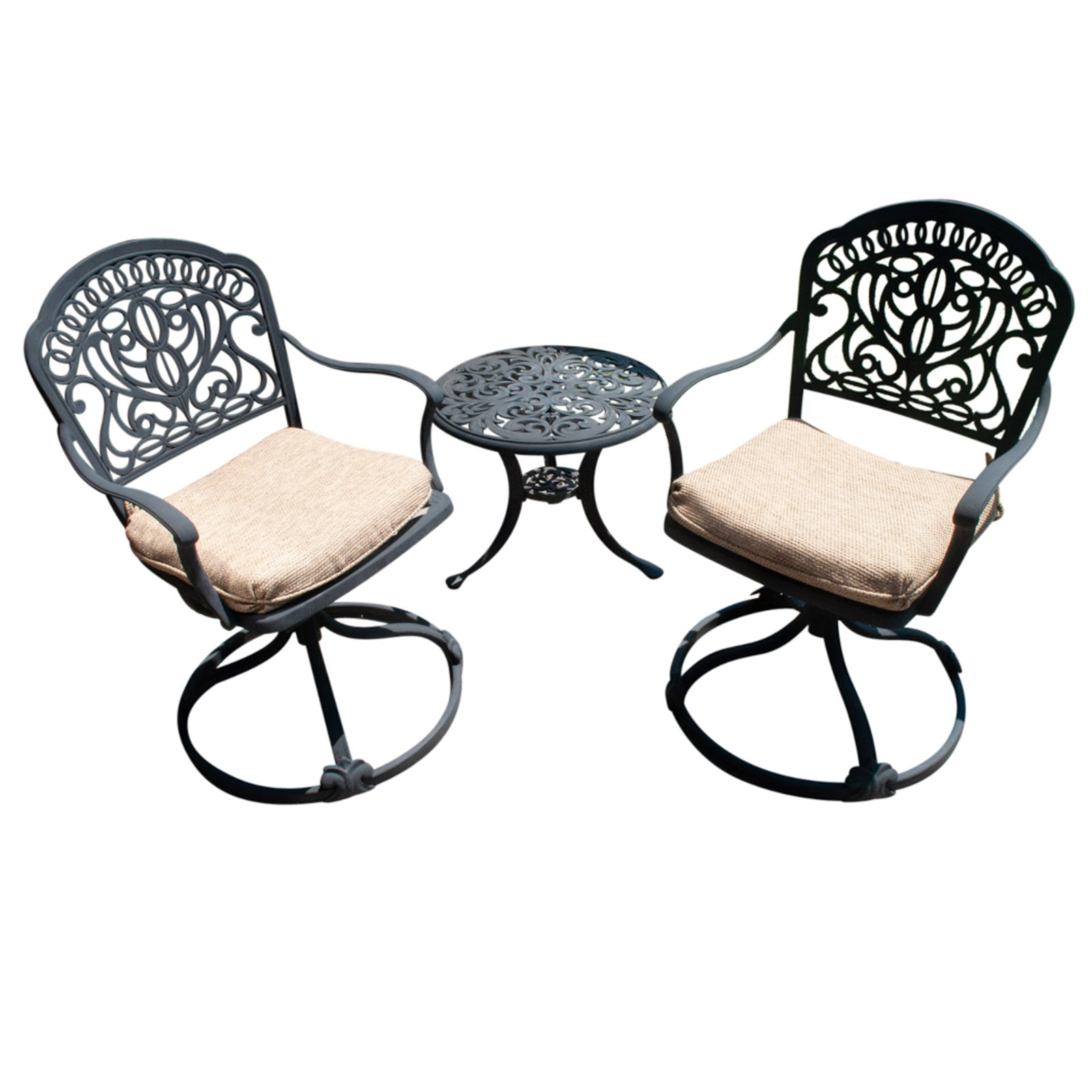 Metal Patio Chairs and Table