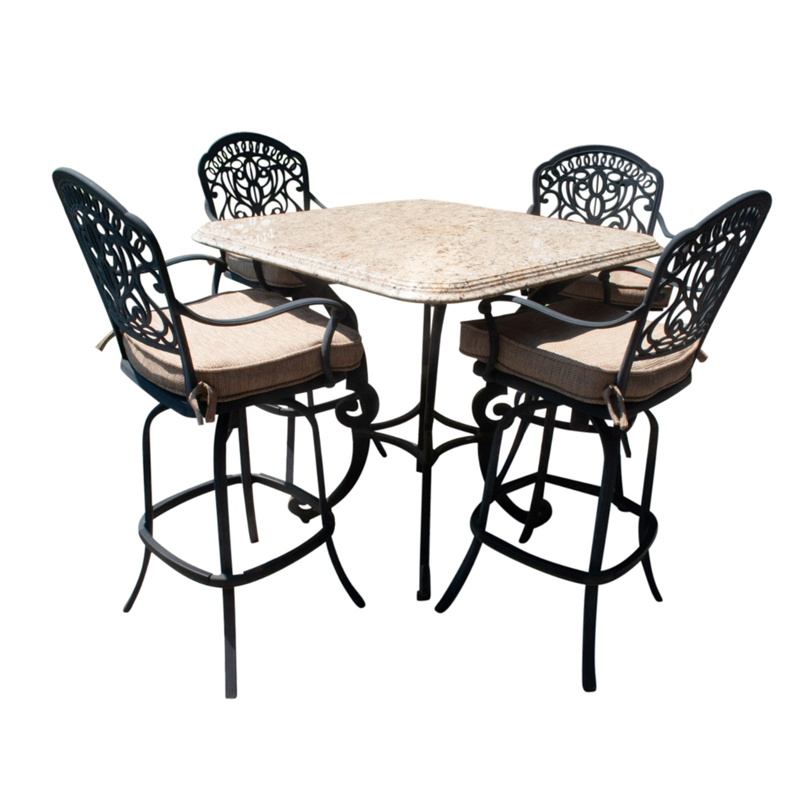 Contemporary Patio Bar Table and Chairs