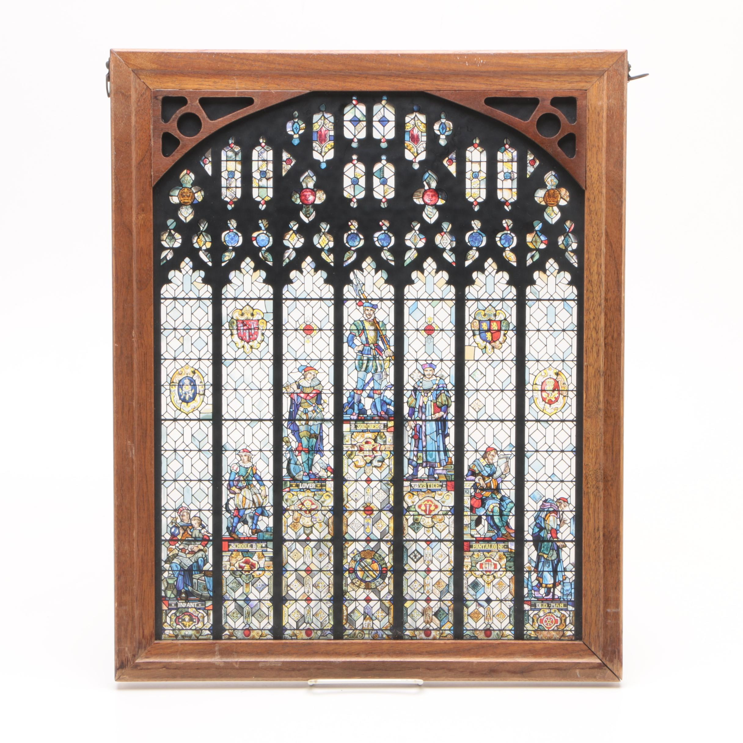 Printed Stained Glass Style Window Pane
