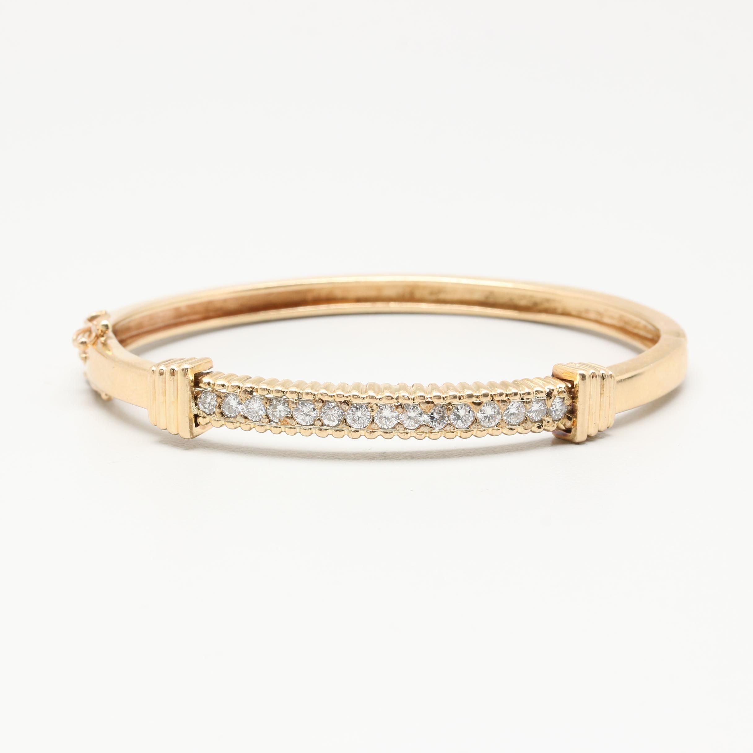 14K Yellow Gold 1.00 CTW Diamond Bracelet