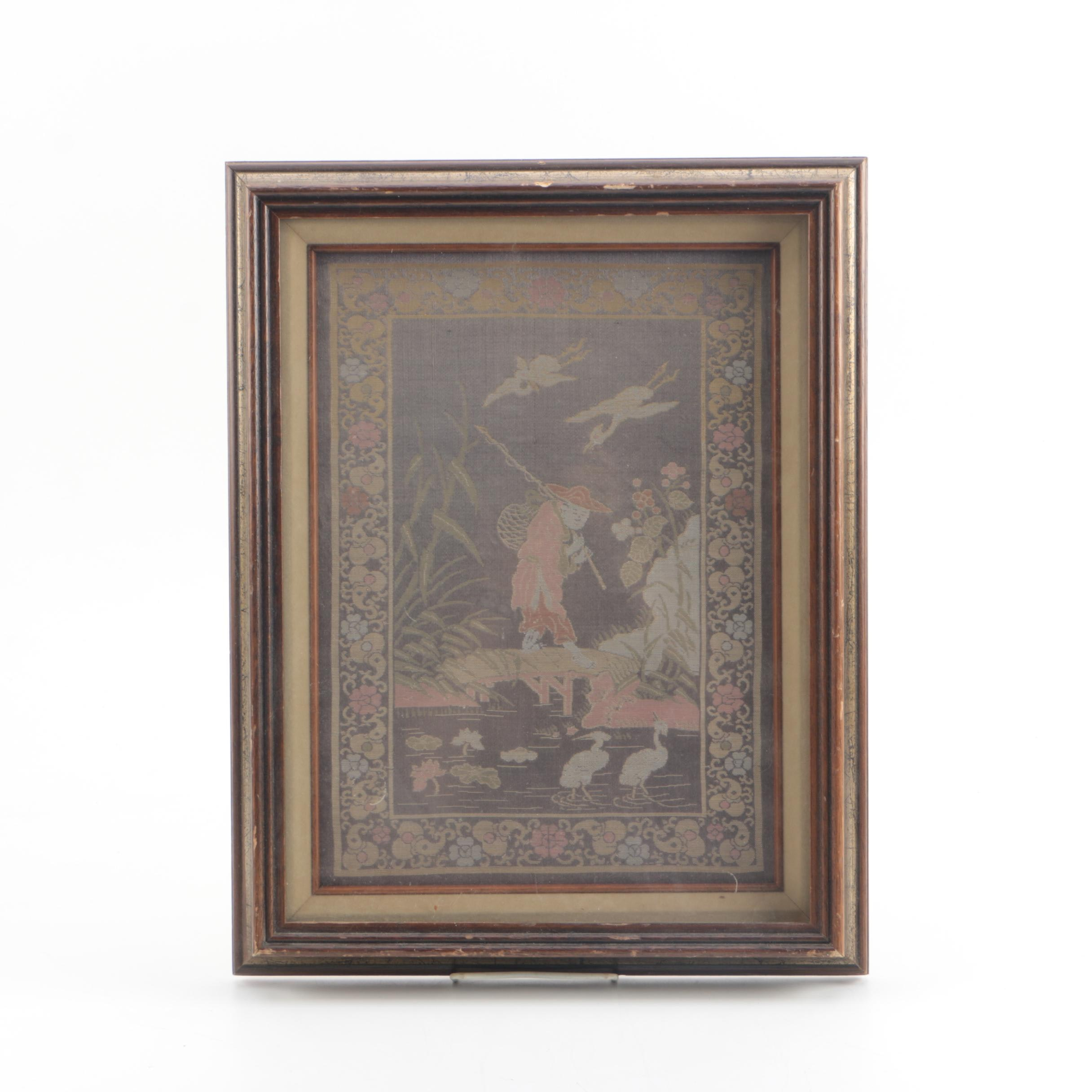 Chinese Framed Woven Textile