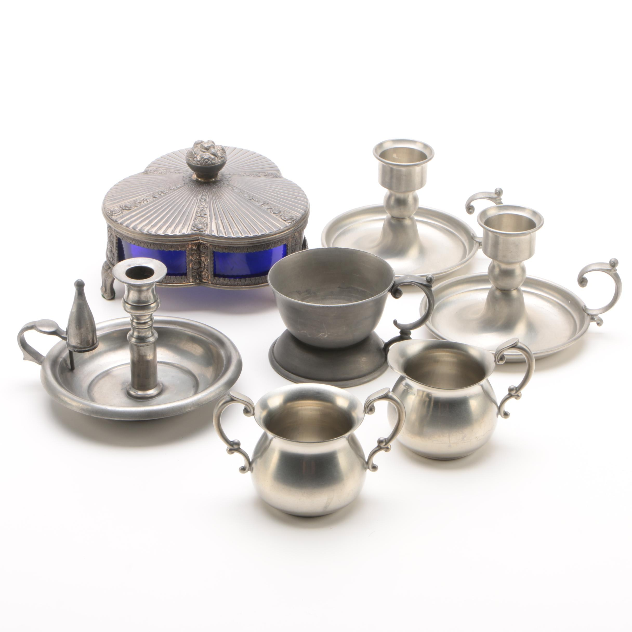 Pewter Serveware and Décor Featuring Empire and Web